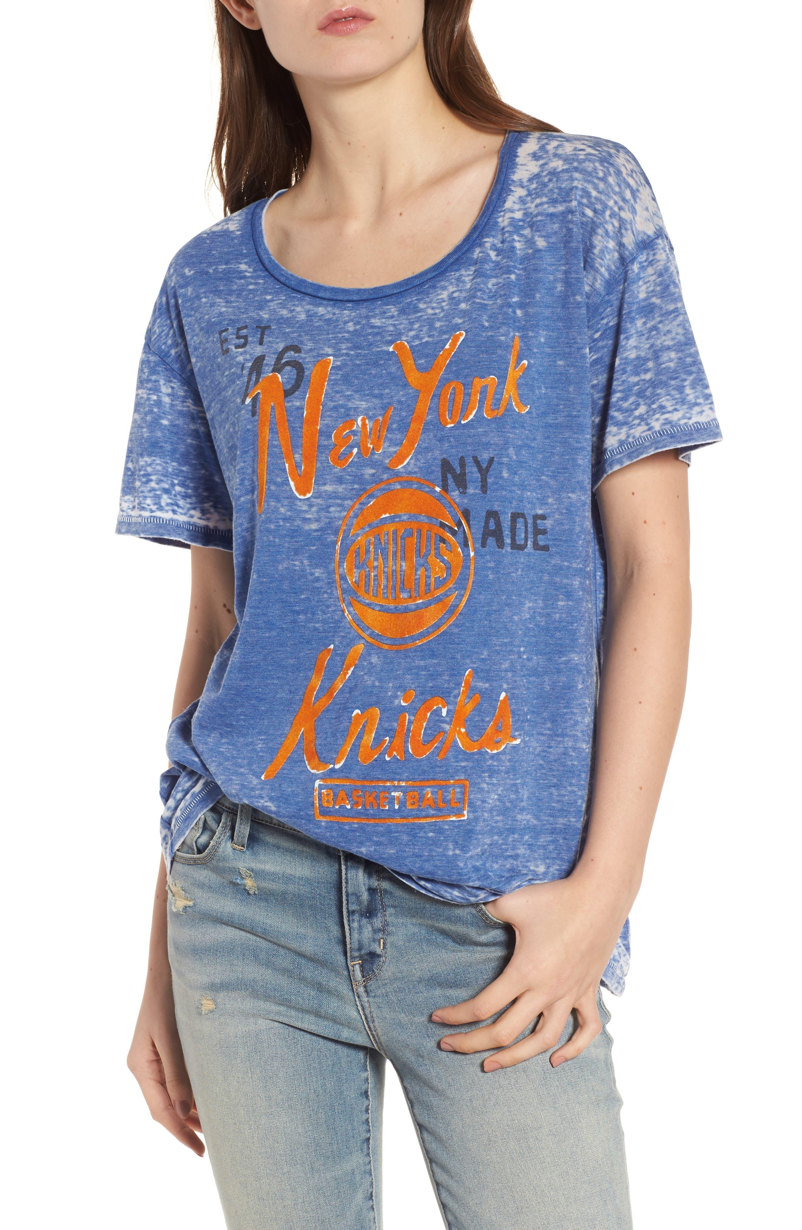NBA New York Knicks Tee,                         Main,                         color, Liberty