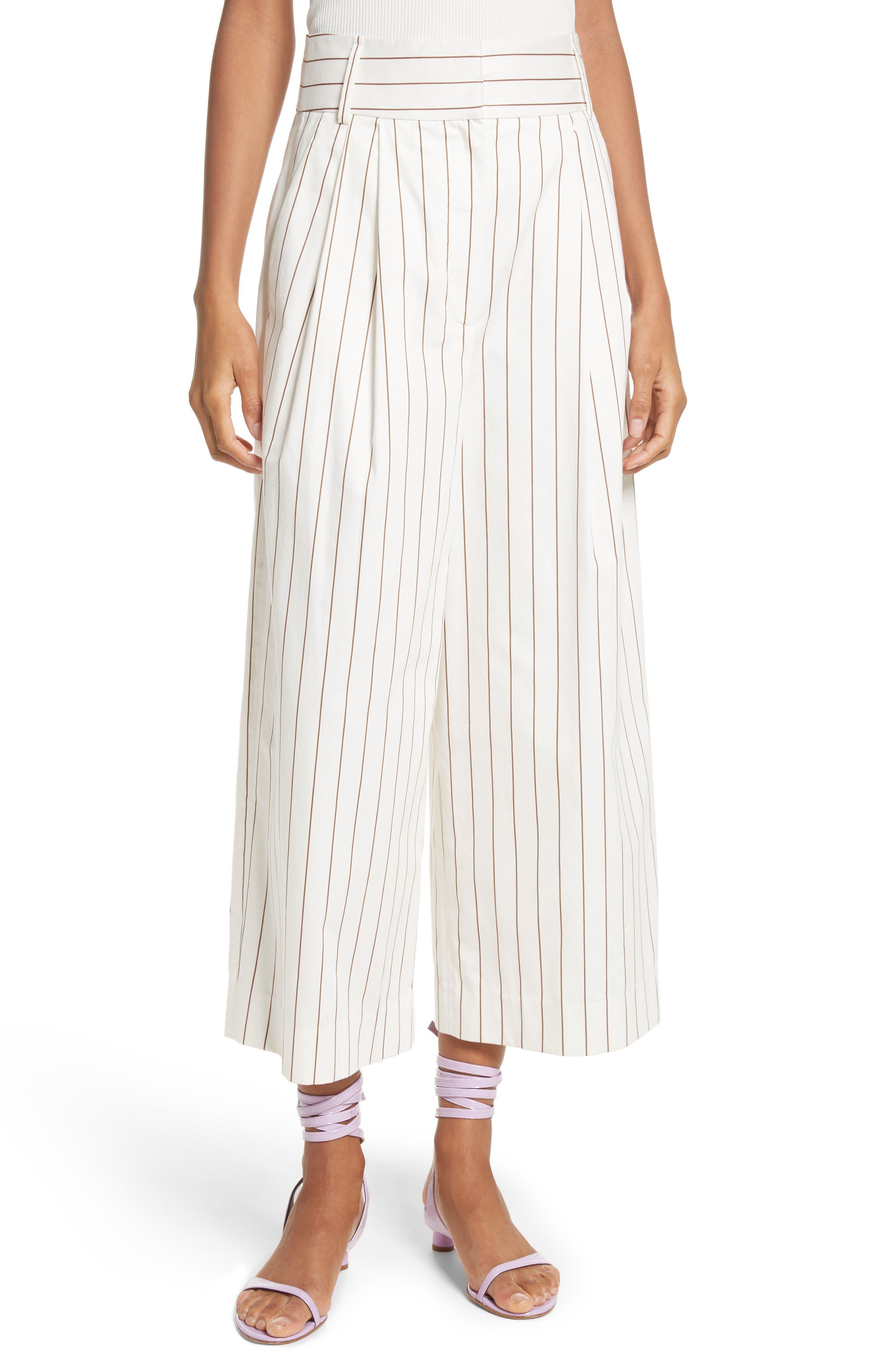 Tibi Bianca Stripe Crop Pant