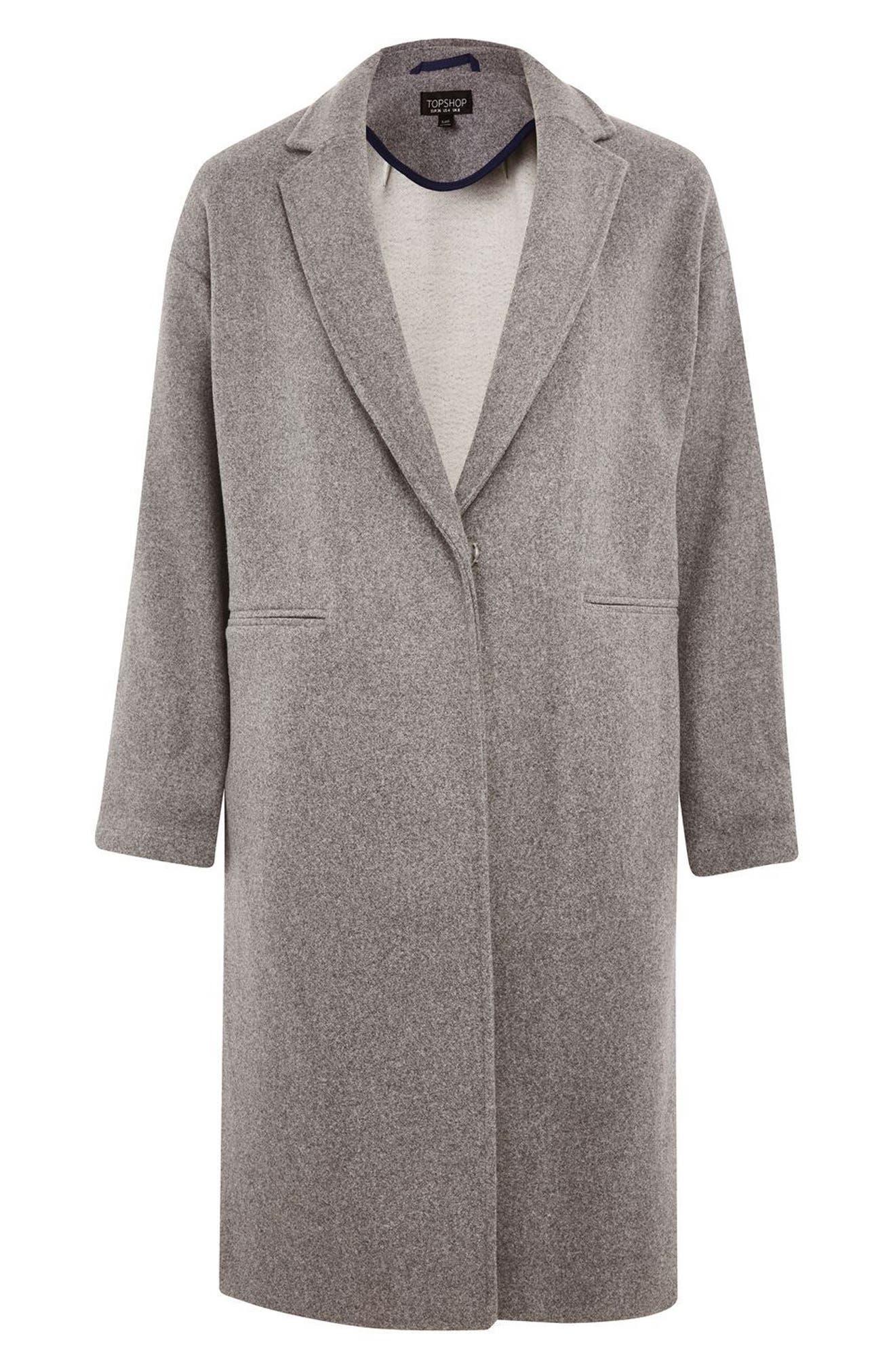Bonded Knit Coat,                             Alternate thumbnail 4, color,                             Grey