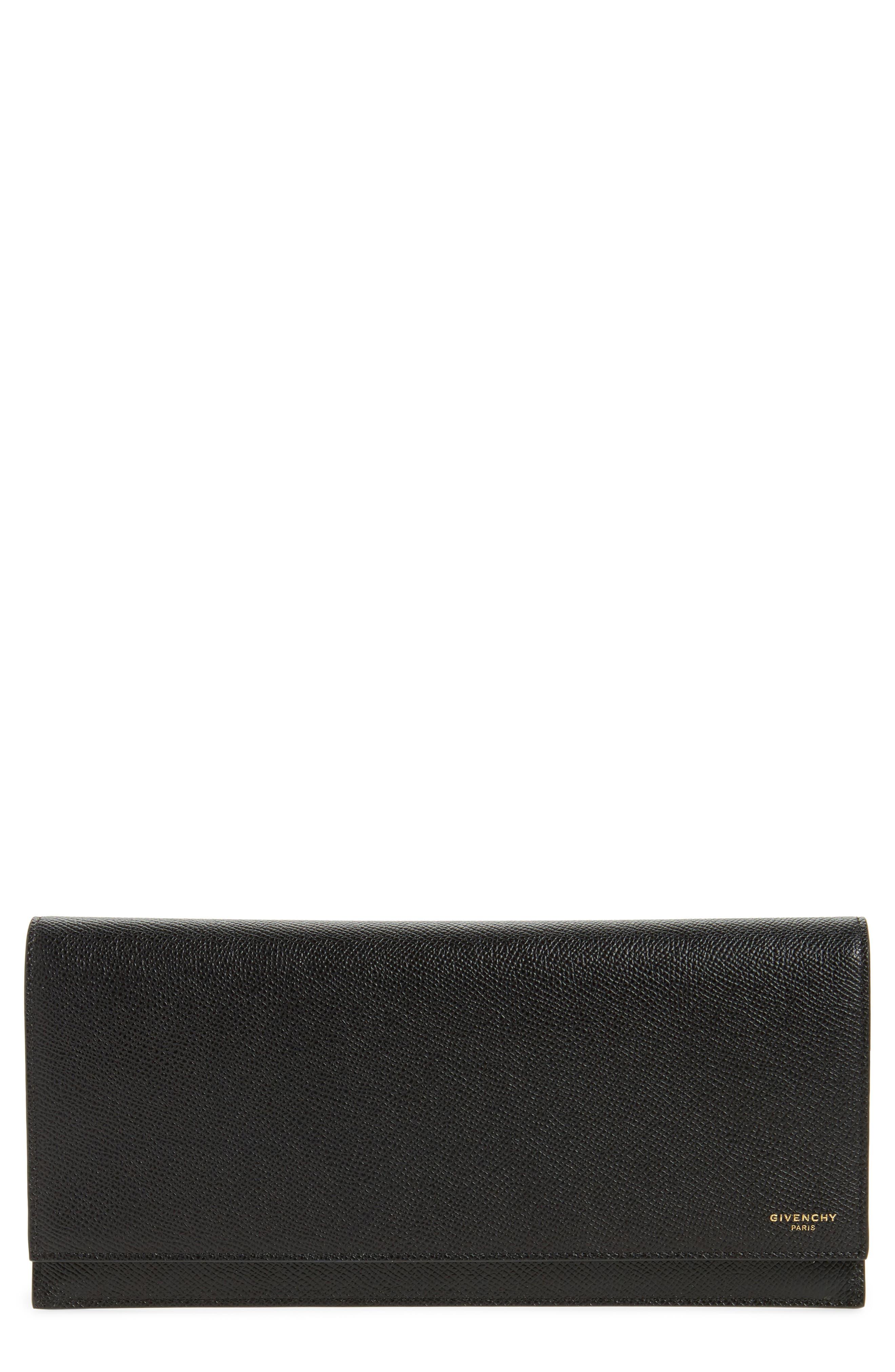 Leather Travel Pouch,                             Main thumbnail 1, color,                             Black
