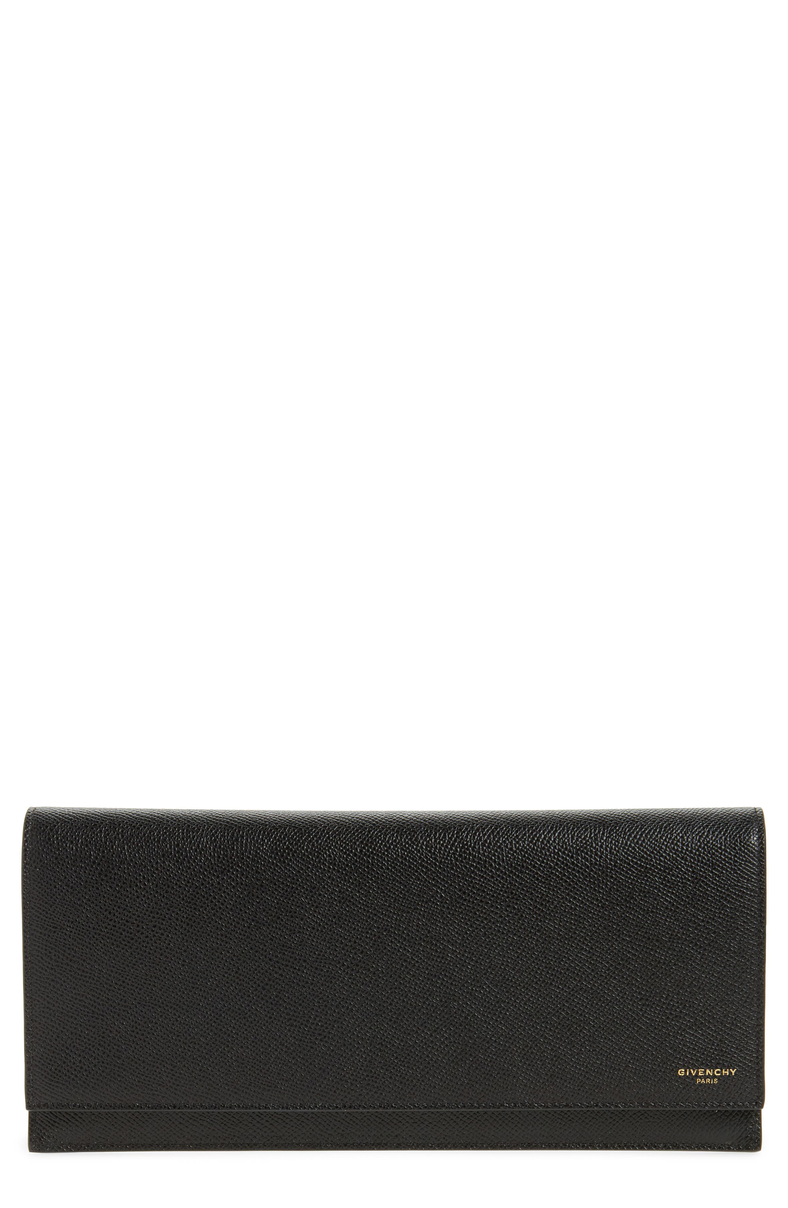 Leather Travel Pouch,                         Main,                         color, Black