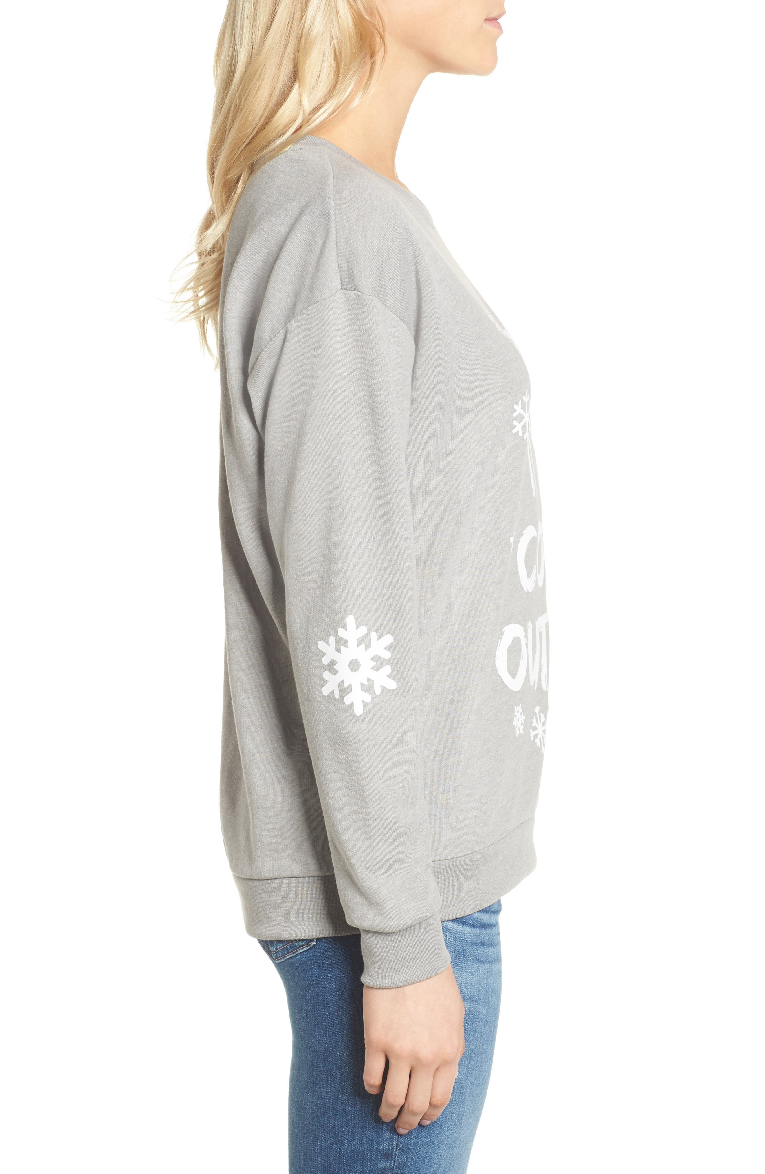 Alternate Image 3  - South Parade Baby It's Cold Outside Sweatshirt