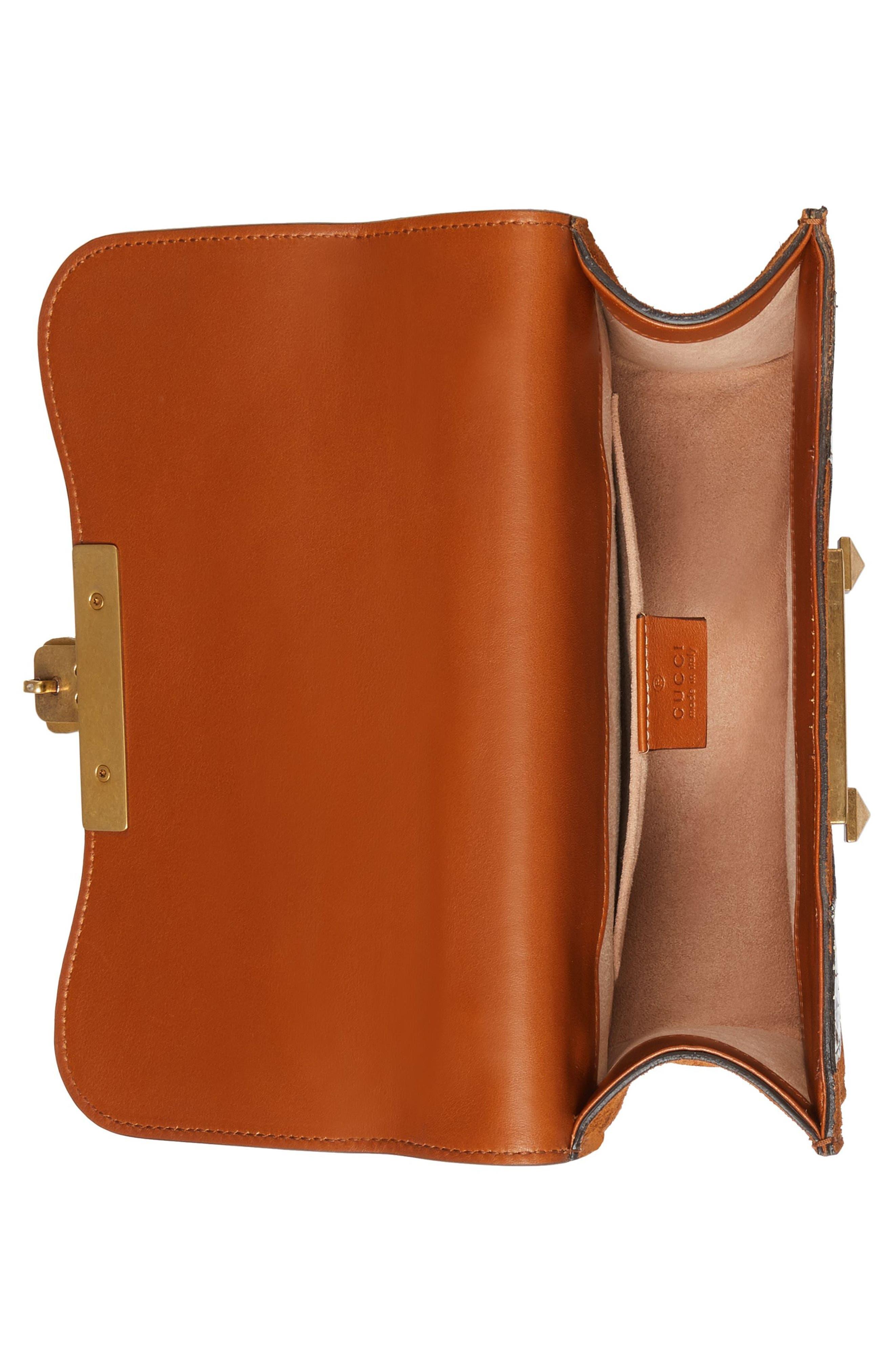 Osiride Suede & Genuine Snakeskin Shoulder Bag,                             Alternate thumbnail 3, color,                             Bright Cuir/ Roccia