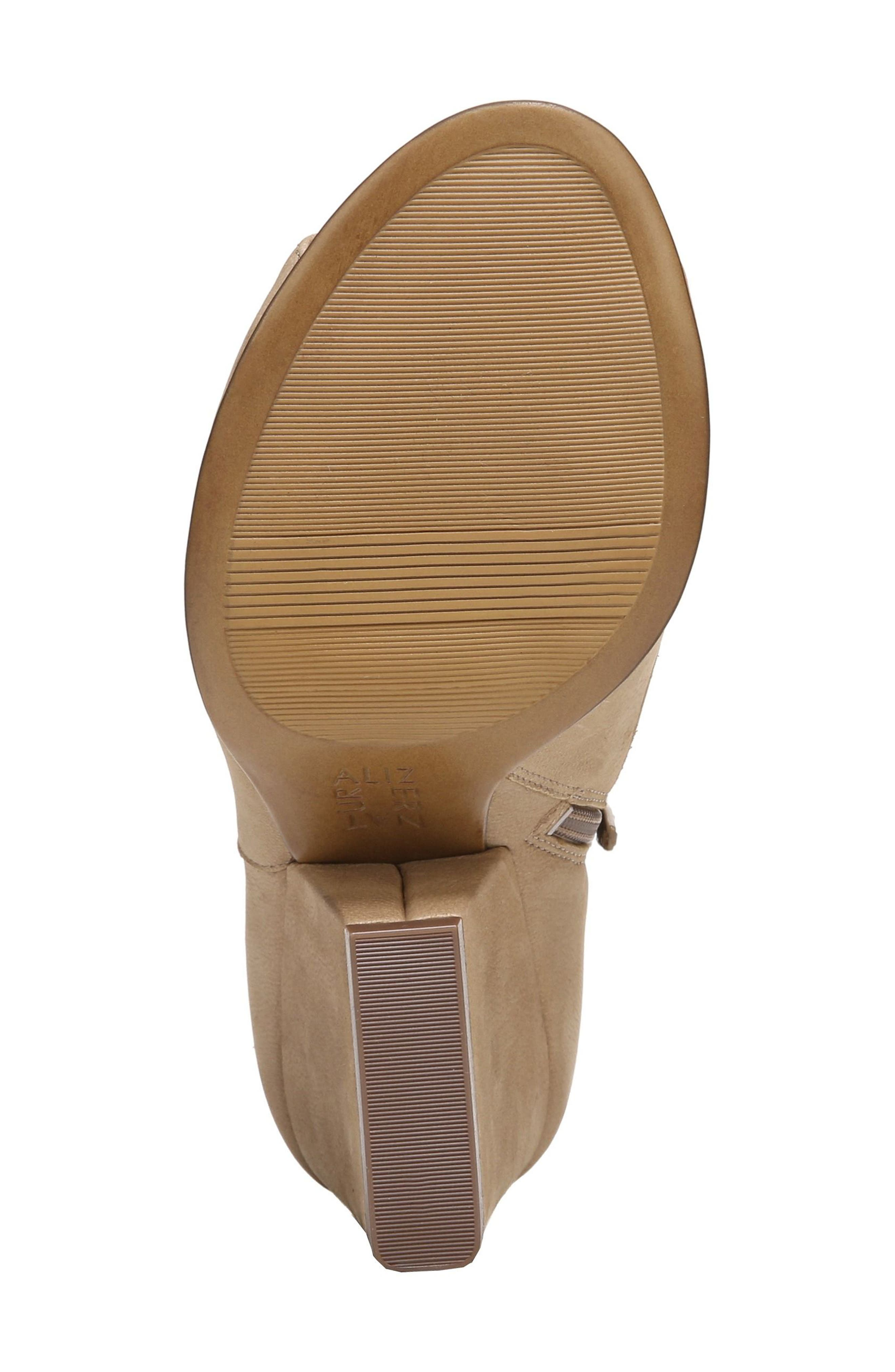 Skylar Open Toe Bootie,                             Alternate thumbnail 6, color,                             Barley Nubuck