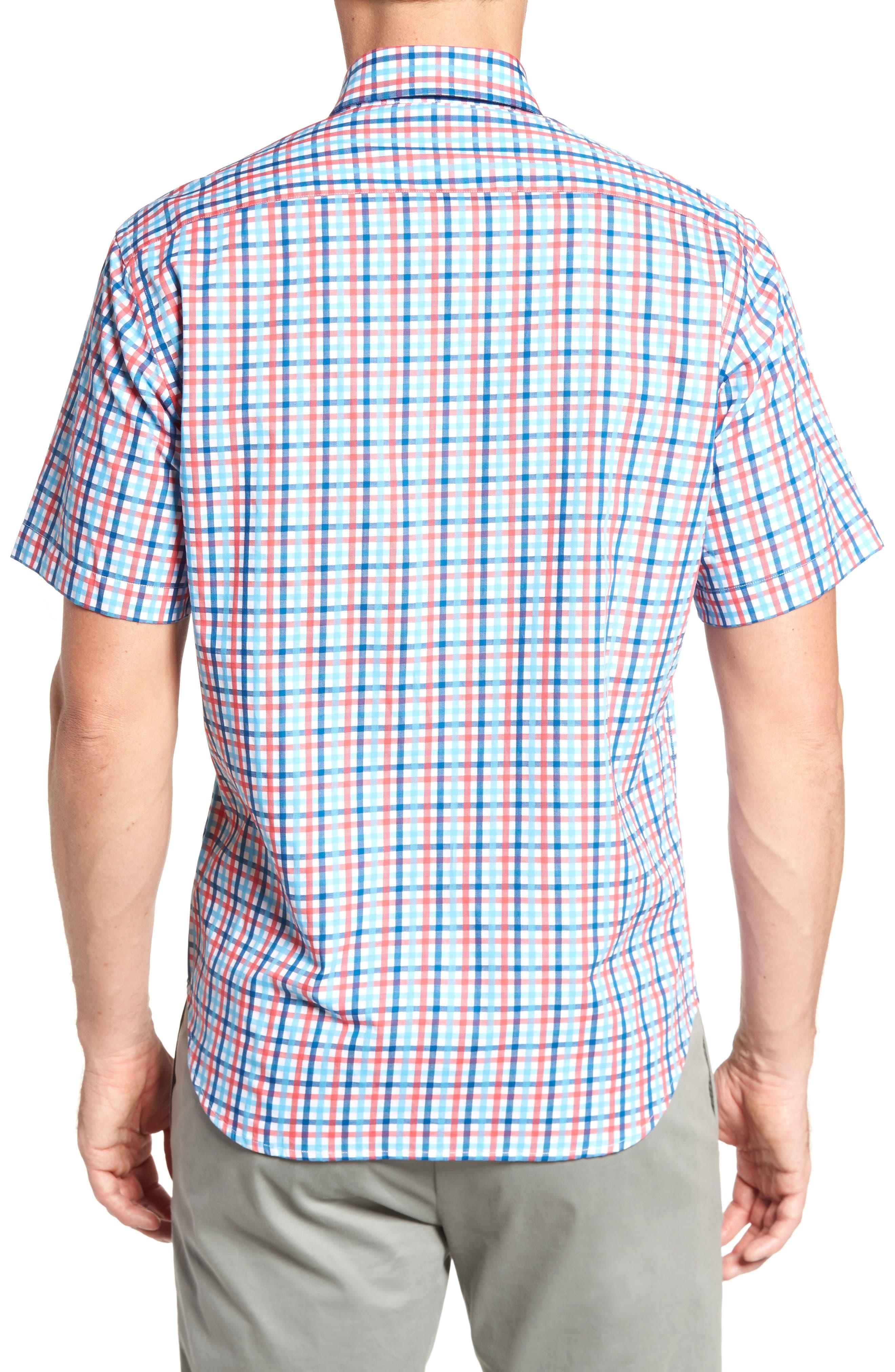 Scott Regular Fit Plaid Sport Shirt,                             Alternate thumbnail 2, color,                             Coral