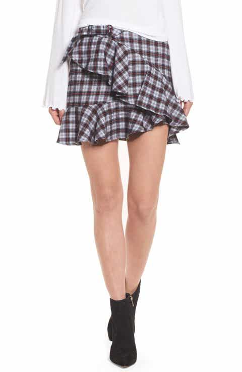 AFRM Dominic Asymmetrical Ruffle Skirt Price