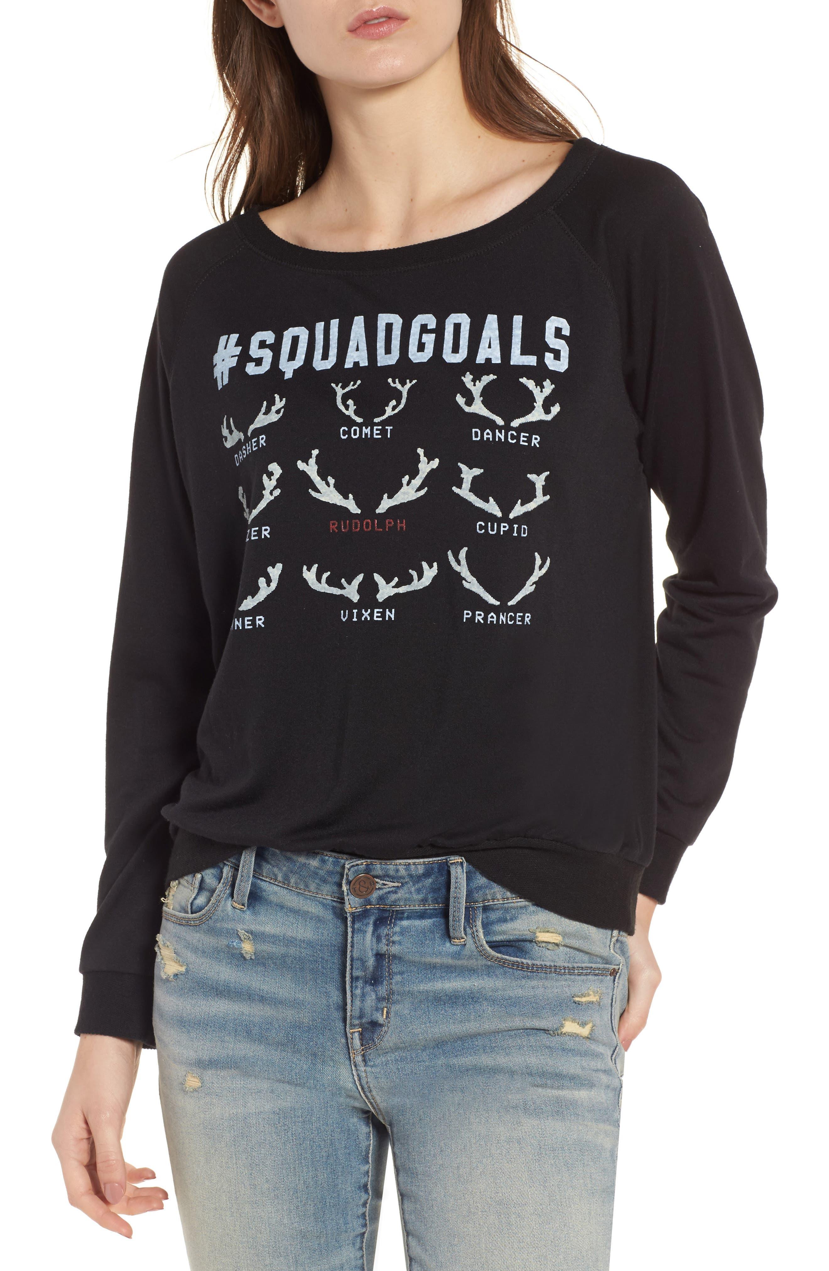#SquadGoals Sweatshirt,                         Main,                         color, Black