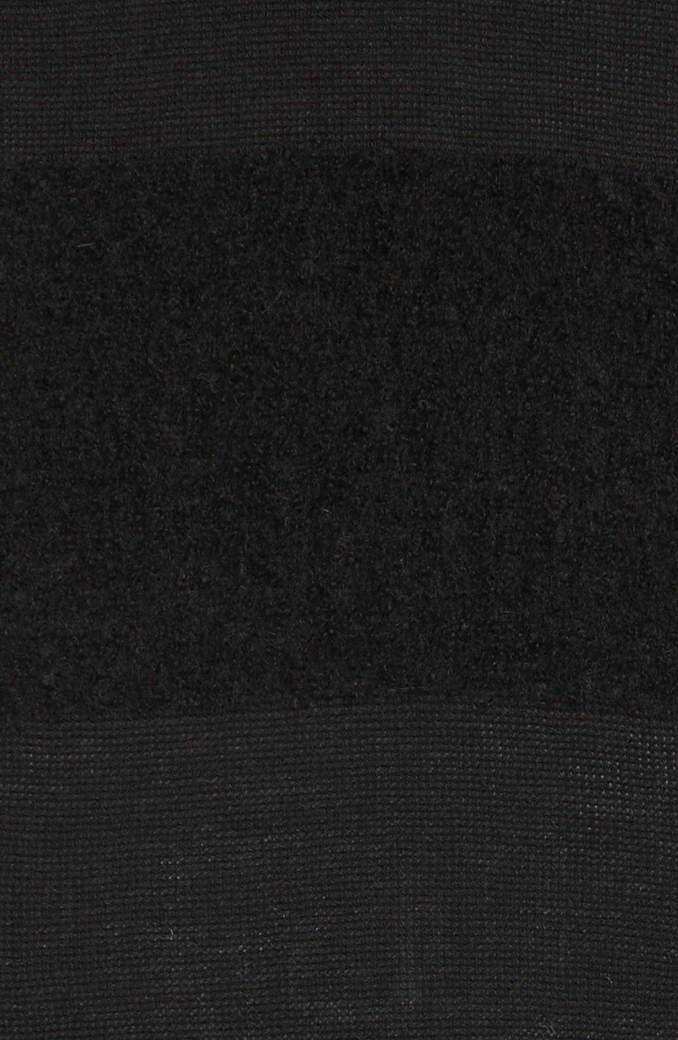 Hudson Alpaca Scarf,                             Alternate thumbnail 4, color,                             Black