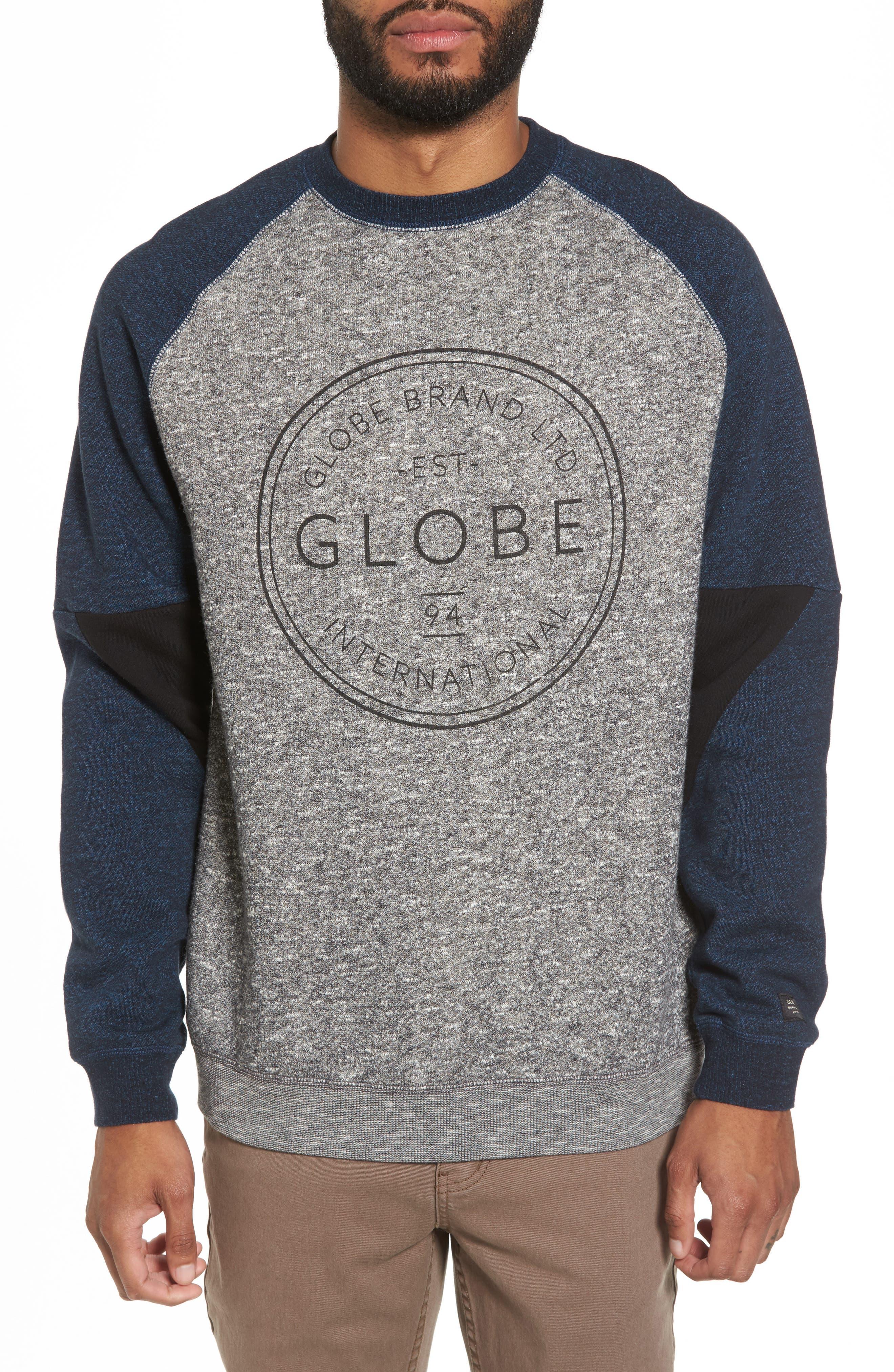 Winson Graphic Sweatshirt,                         Main,                         color, Grey Speckle