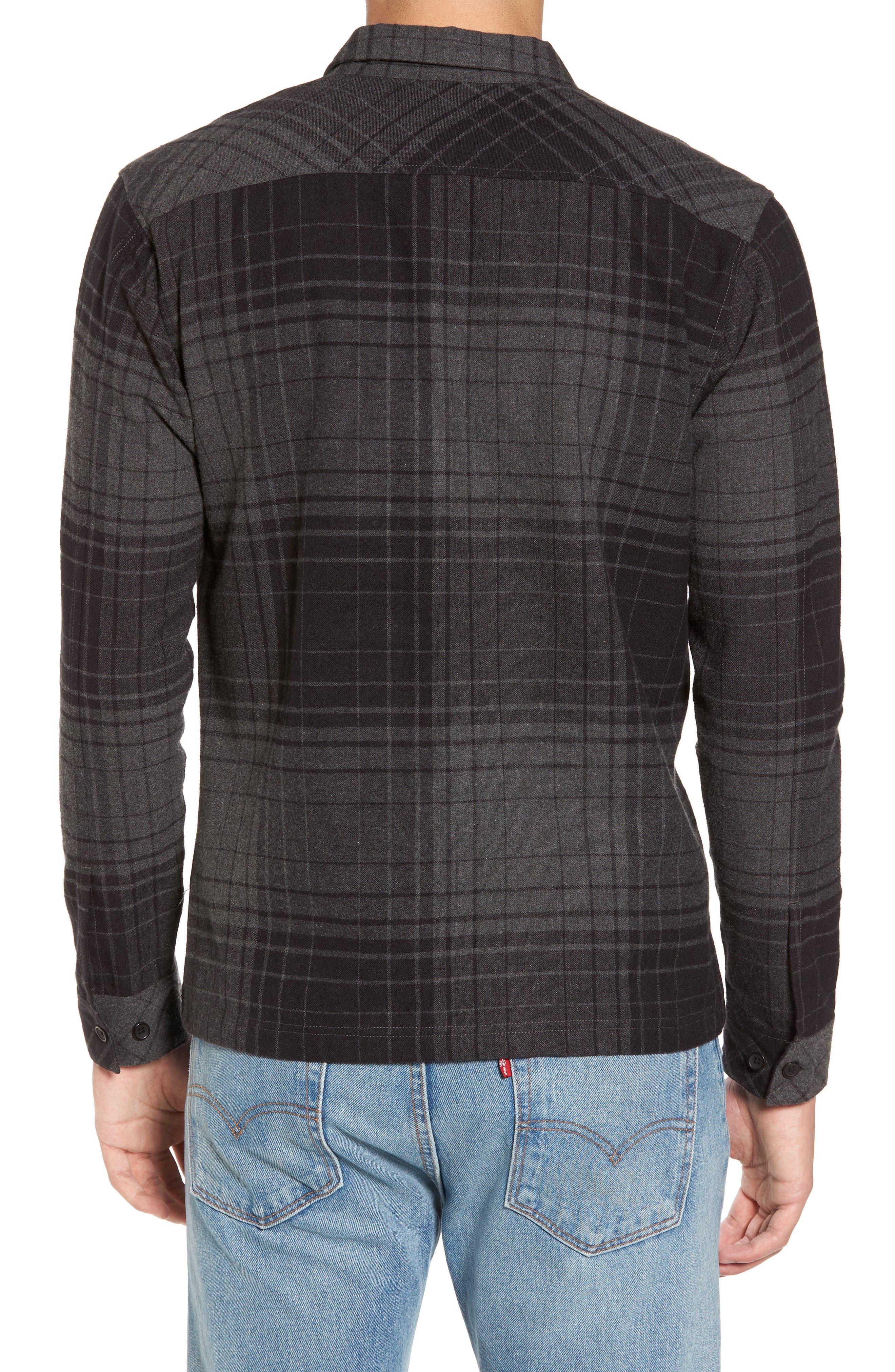 Lamar Shirt Jacket,                             Alternate thumbnail 2, color,                             Black