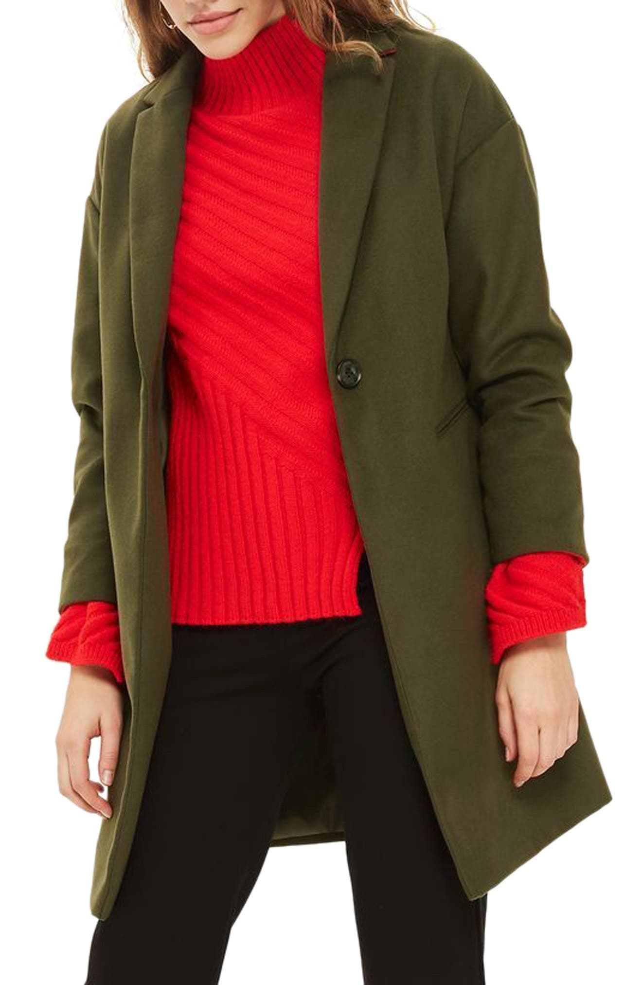 Alternate Image 1 Selected - Topshop Millie Relaxed Fit Coat