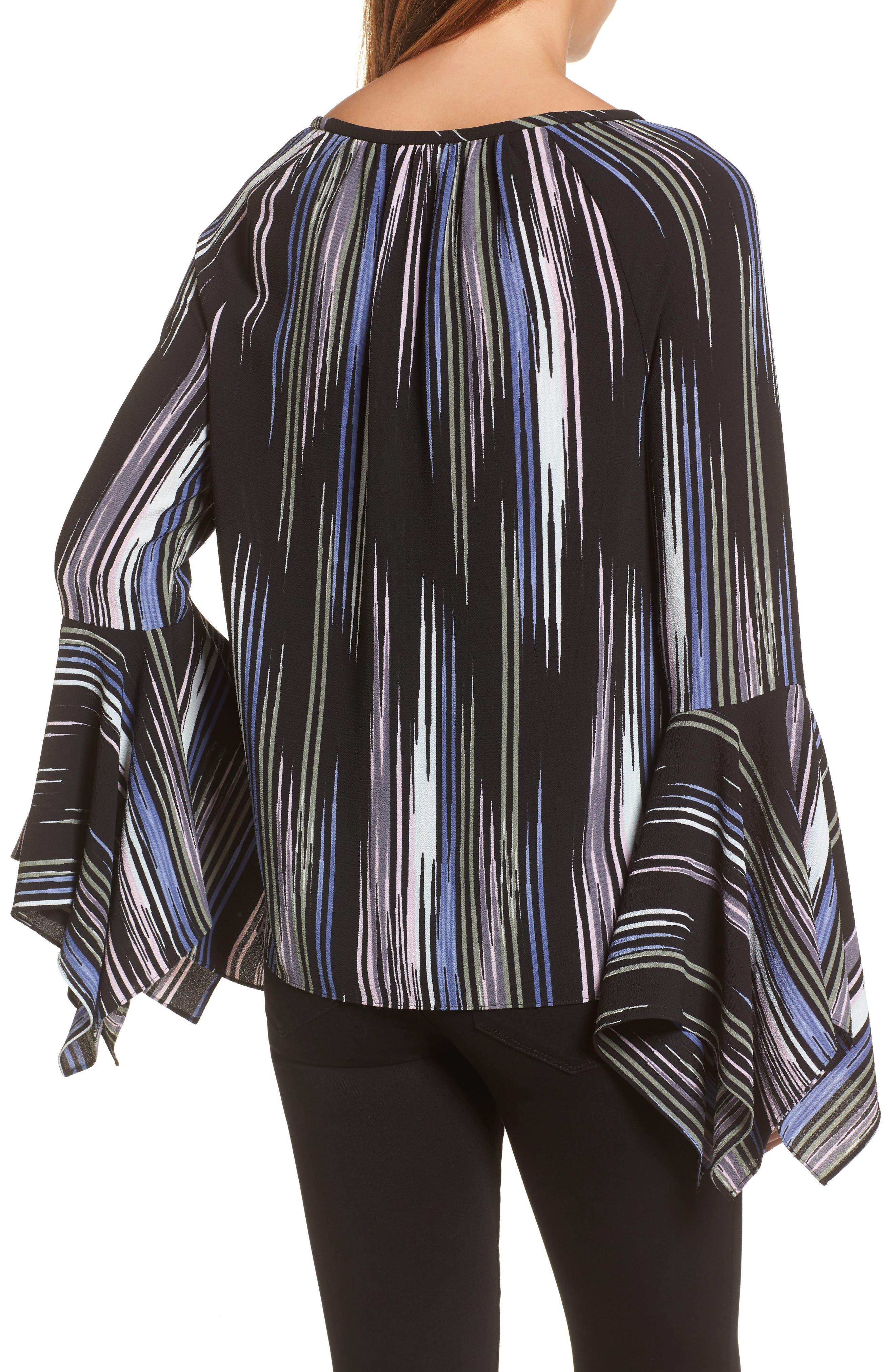 Alternate Image 2  - Vince Camuto Colorful Peaks Handkerchief Sleeve Top