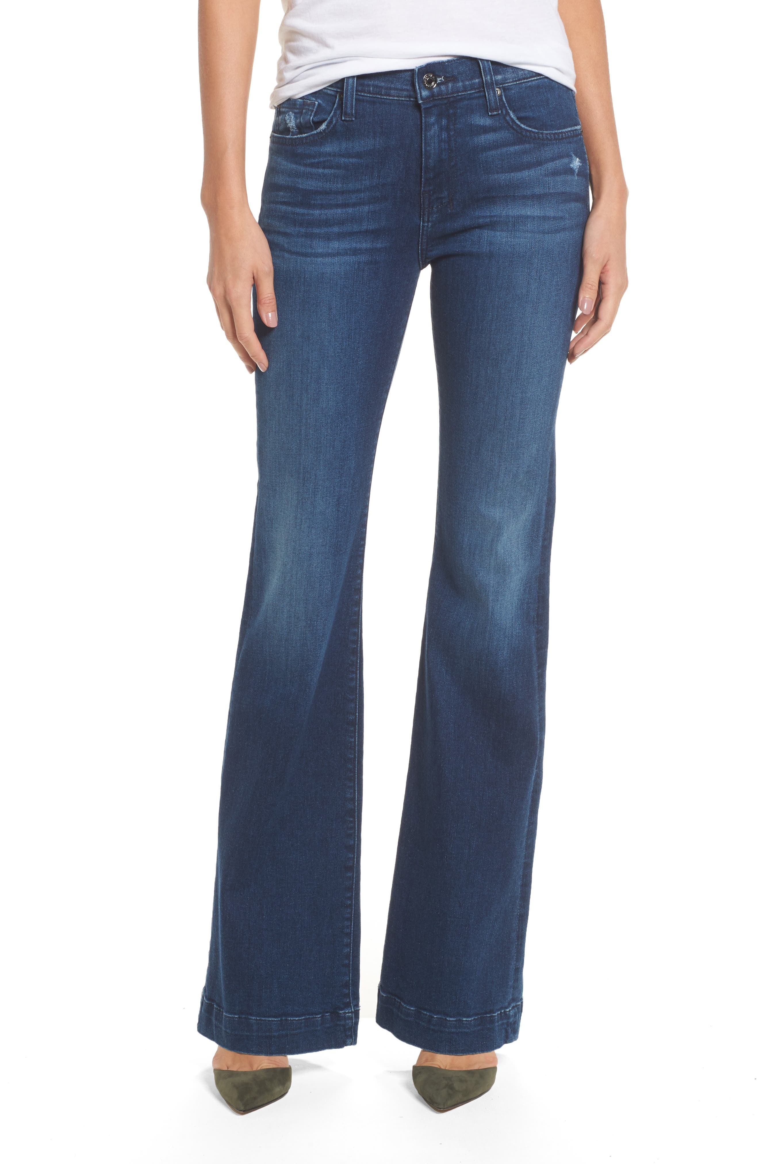 Main Image - 7 For All Mankind® Dojo Wide Leg Jeans (Bella Heritage)