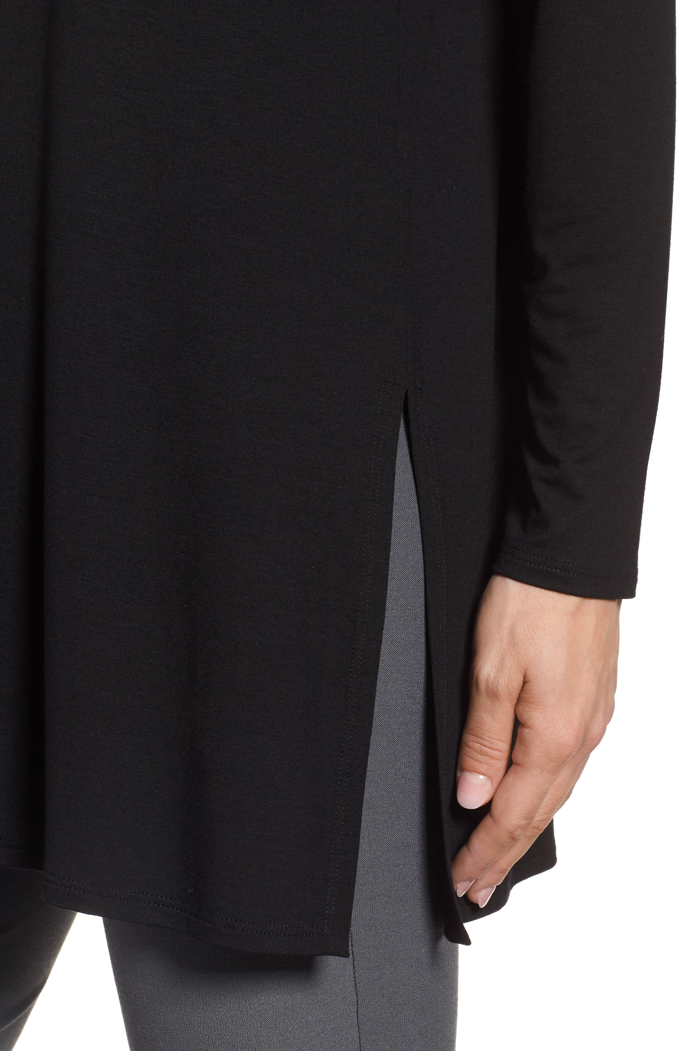Jersey Tunic,                             Alternate thumbnail 4, color,                             Black