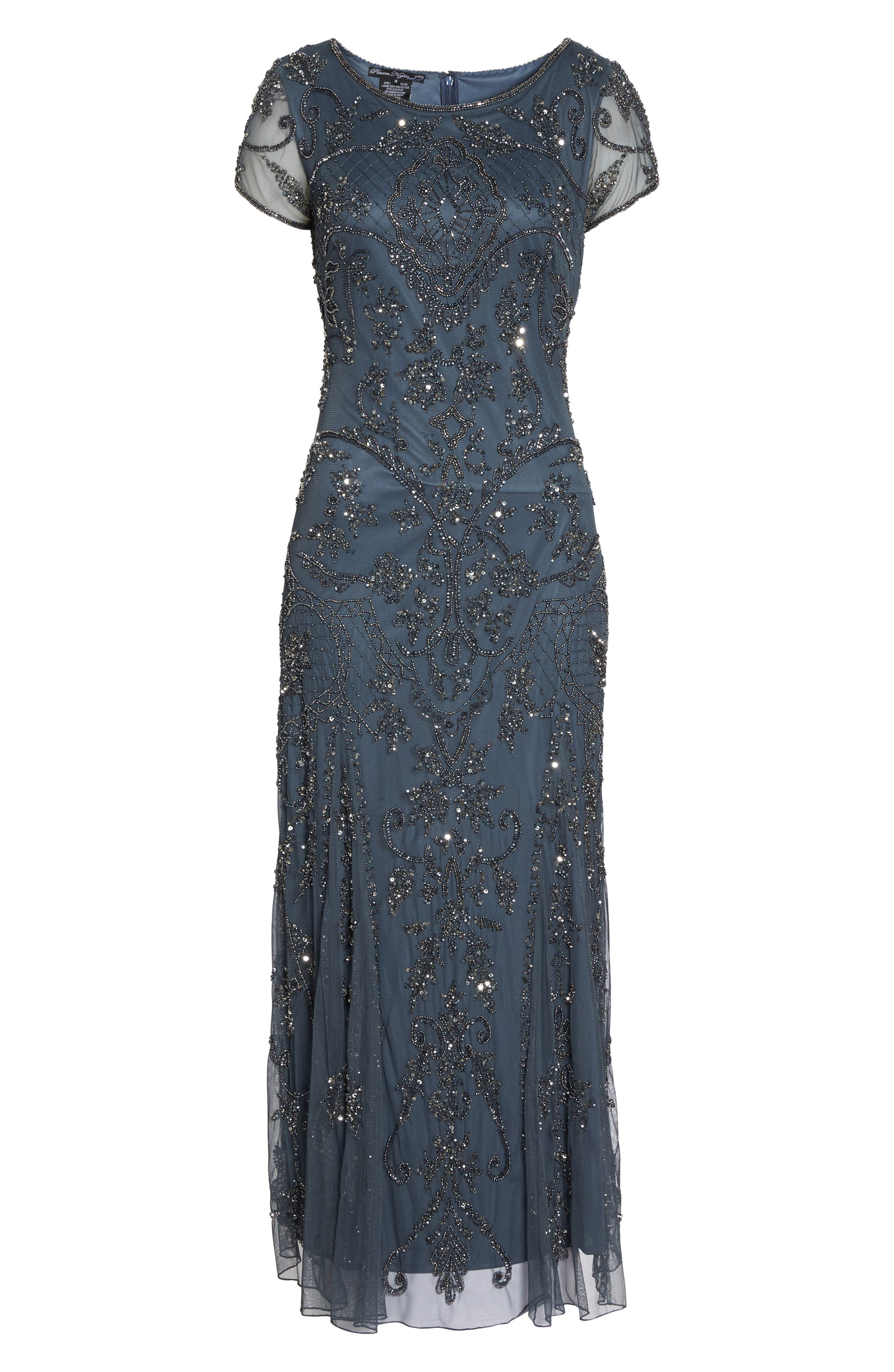 Alternate Image 6  - Pisarro Nights Embellished Mesh Gown (Regular & Petite)
