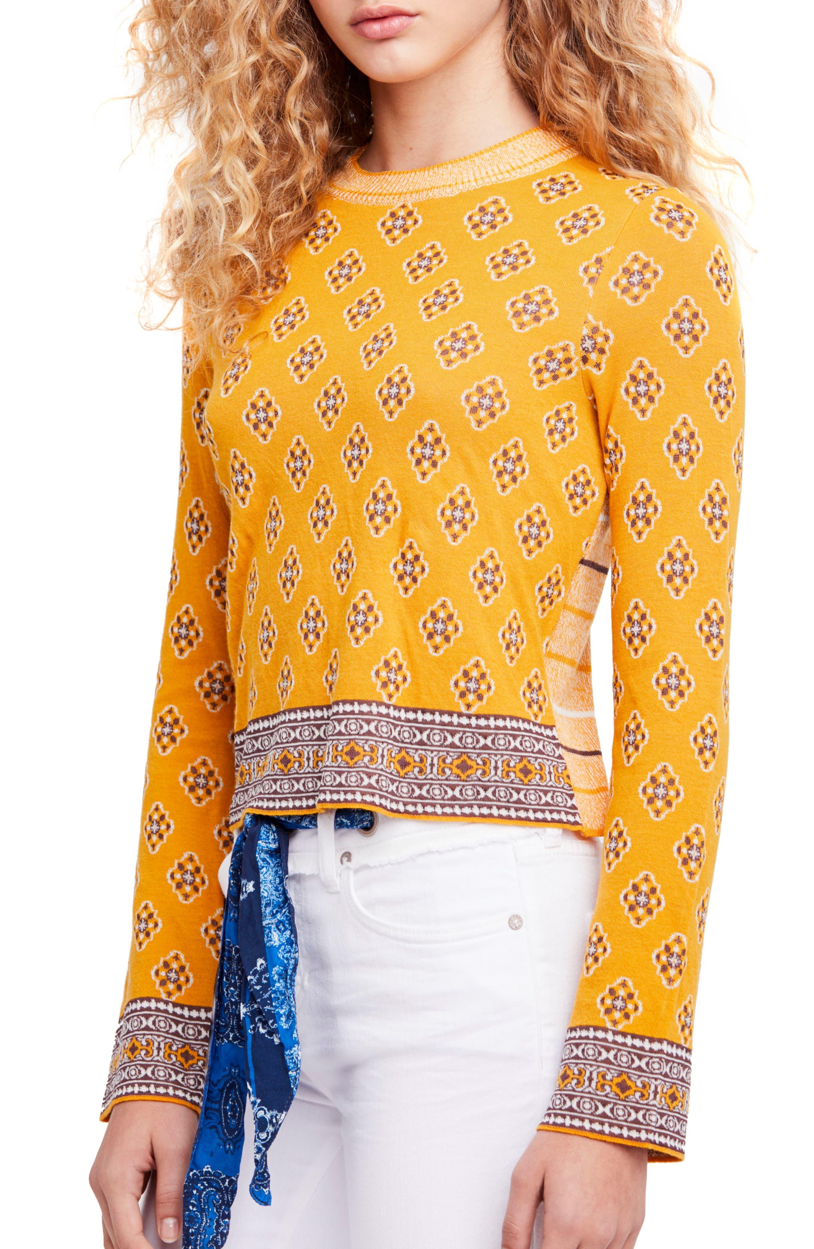 New Age Crewneck Sweater,                             Main thumbnail 1, color,                             Yellow