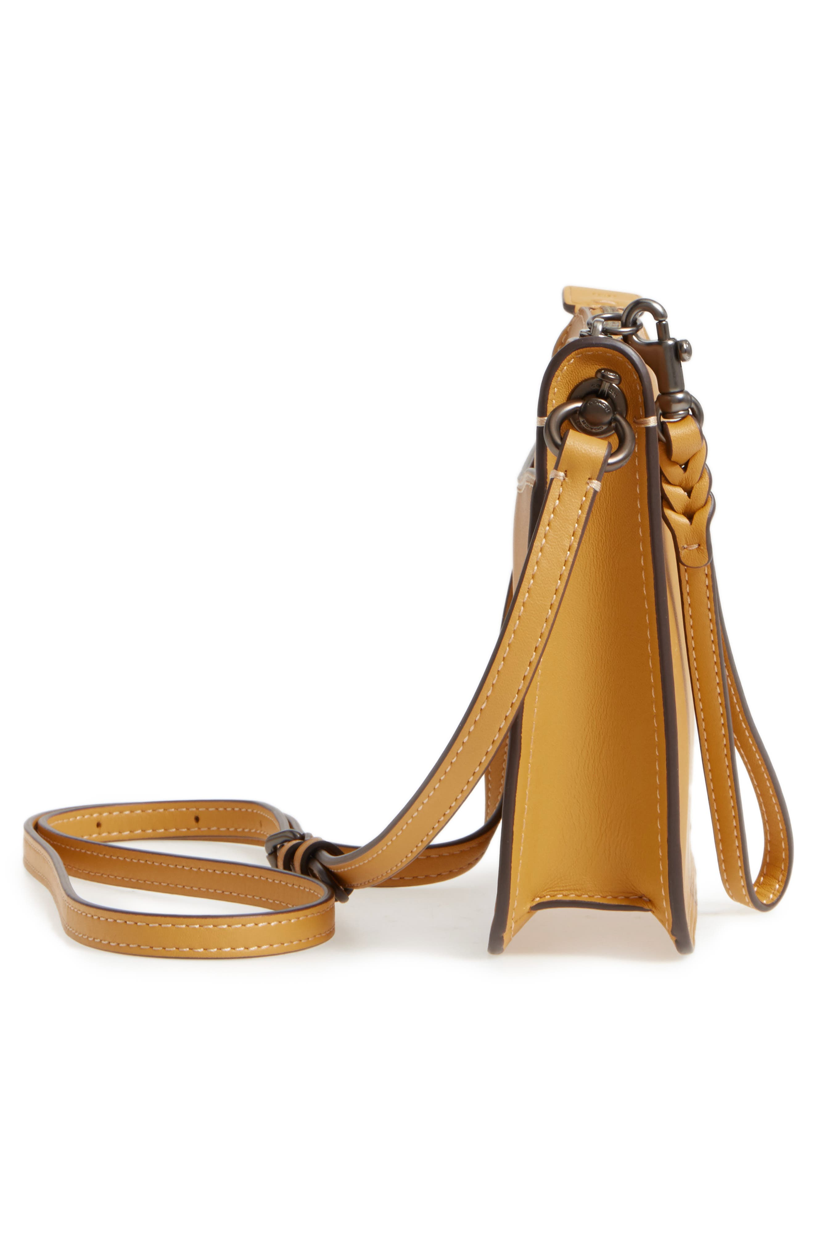 Soho Leather Crossbody Bag,                             Alternate thumbnail 5, color,                             Flax