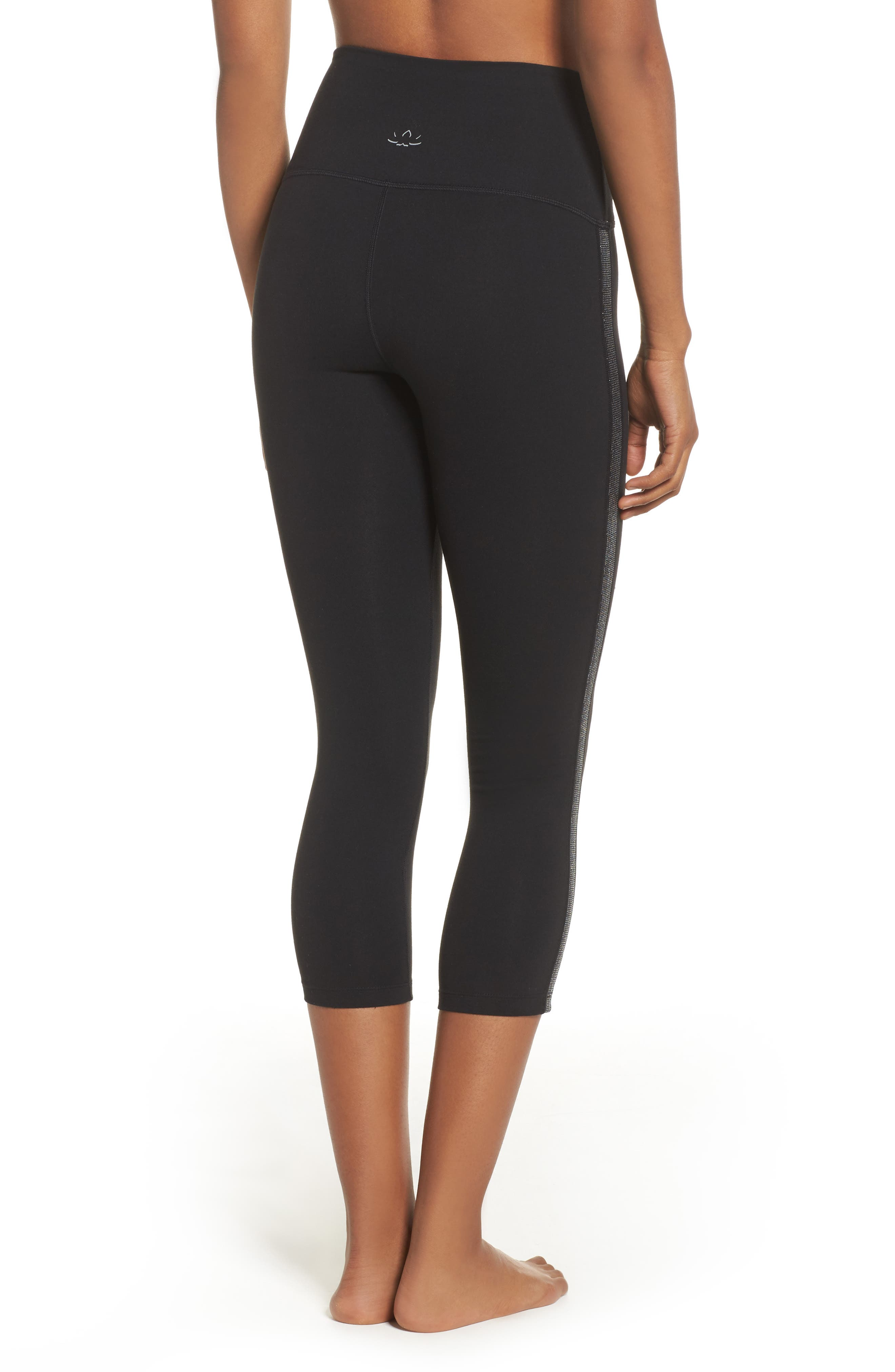 Alternate Image 3  - Beyond Yoga Fit & Trim High Waist Capri Leggings