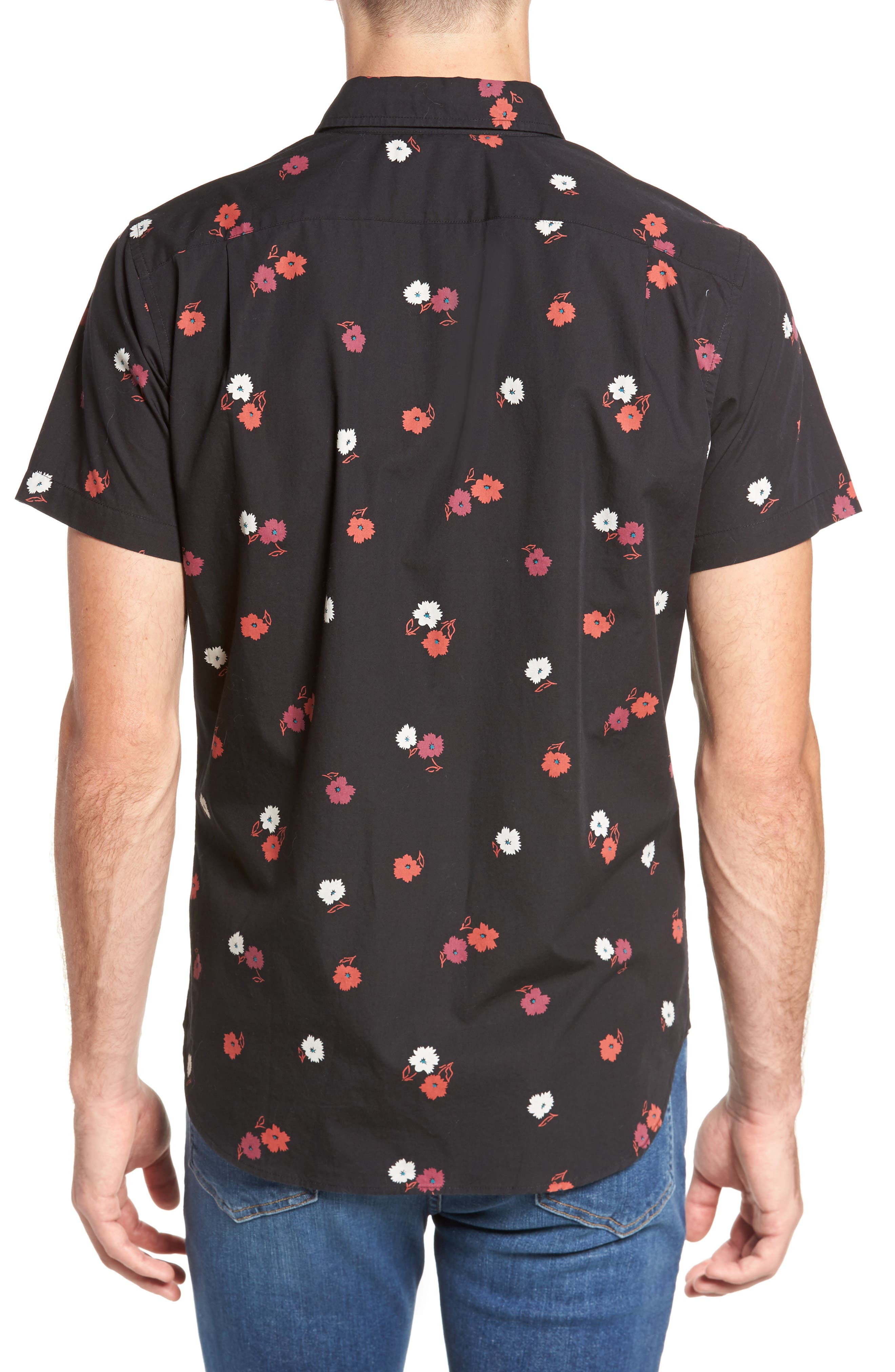 Slim Fit Floral Print Sport Shirt,                             Alternate thumbnail 2, color,                             Arosa Slope Floral
