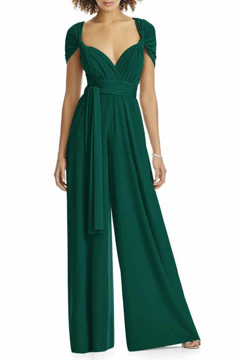 5f6f6cb1bf6 Dessy Collection Convertible Wide Leg Jersey Jumpsuit (Regular   Plus)