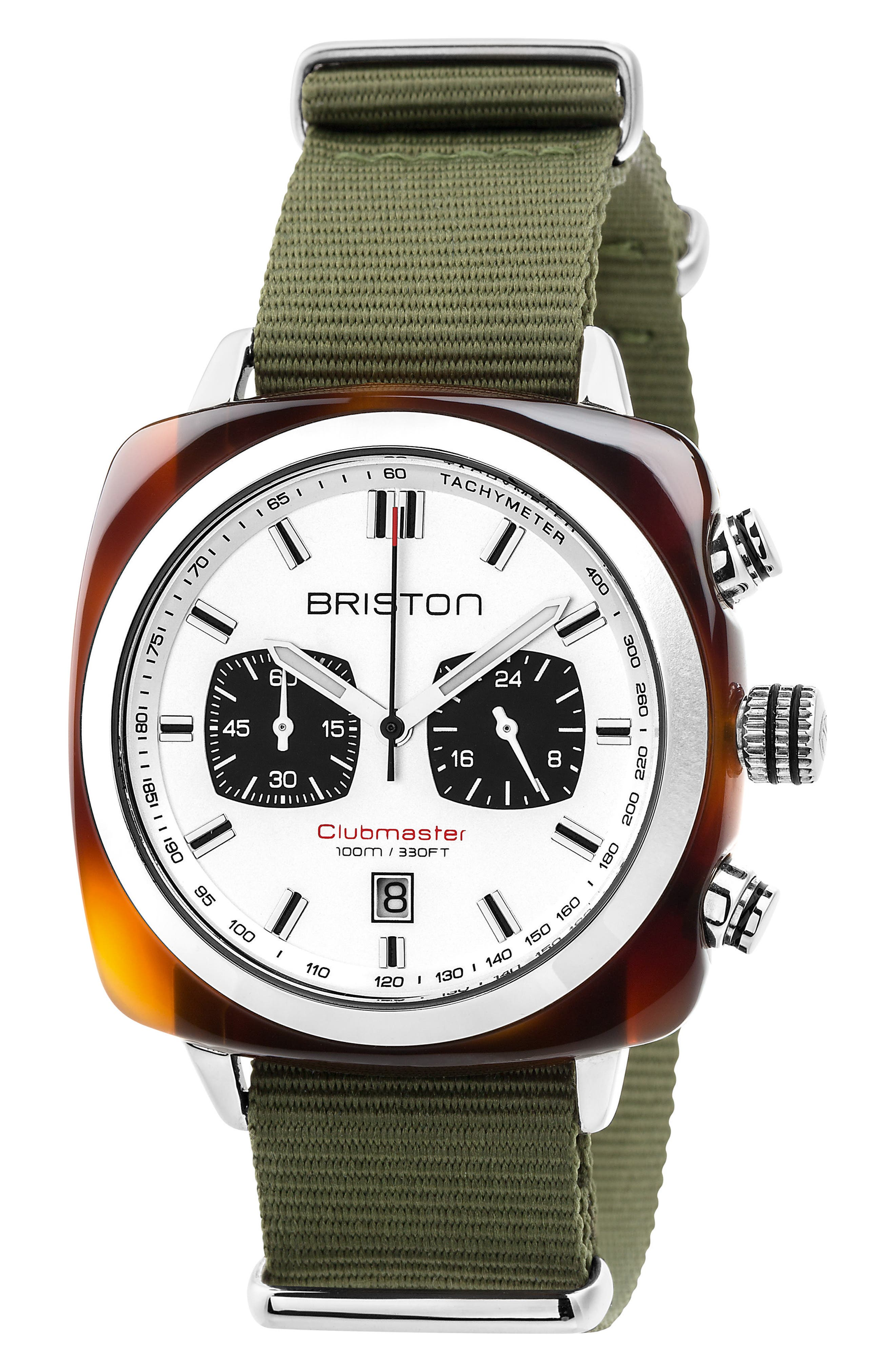 Main Image - Briston Watches Clubmaster Sport Chronograph Nylon Strap Watch, 42mm
