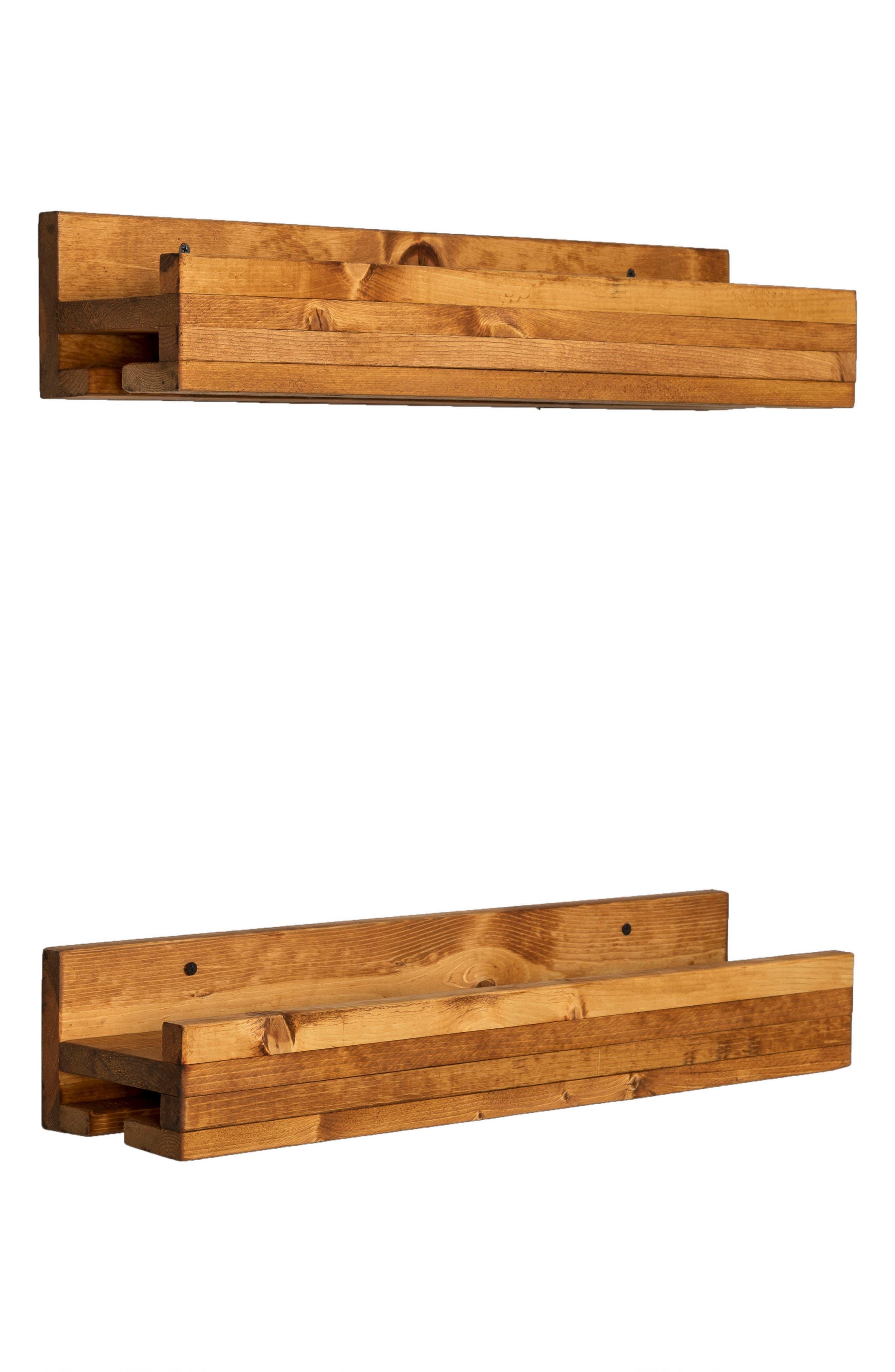 Alternate Image 5  - (del)Hutson Designs Set of 2 Pine Wood Wine Racks