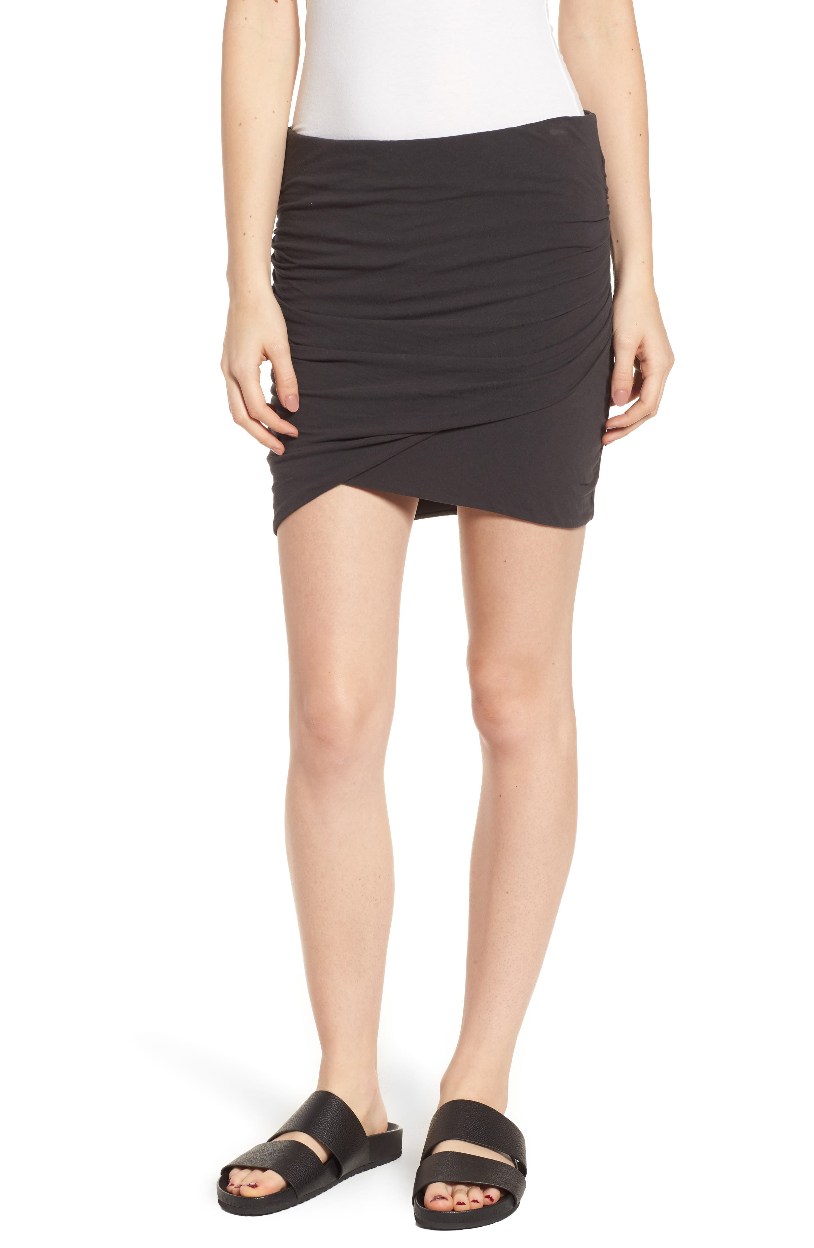 James Perse Ruched Surplice Skirt