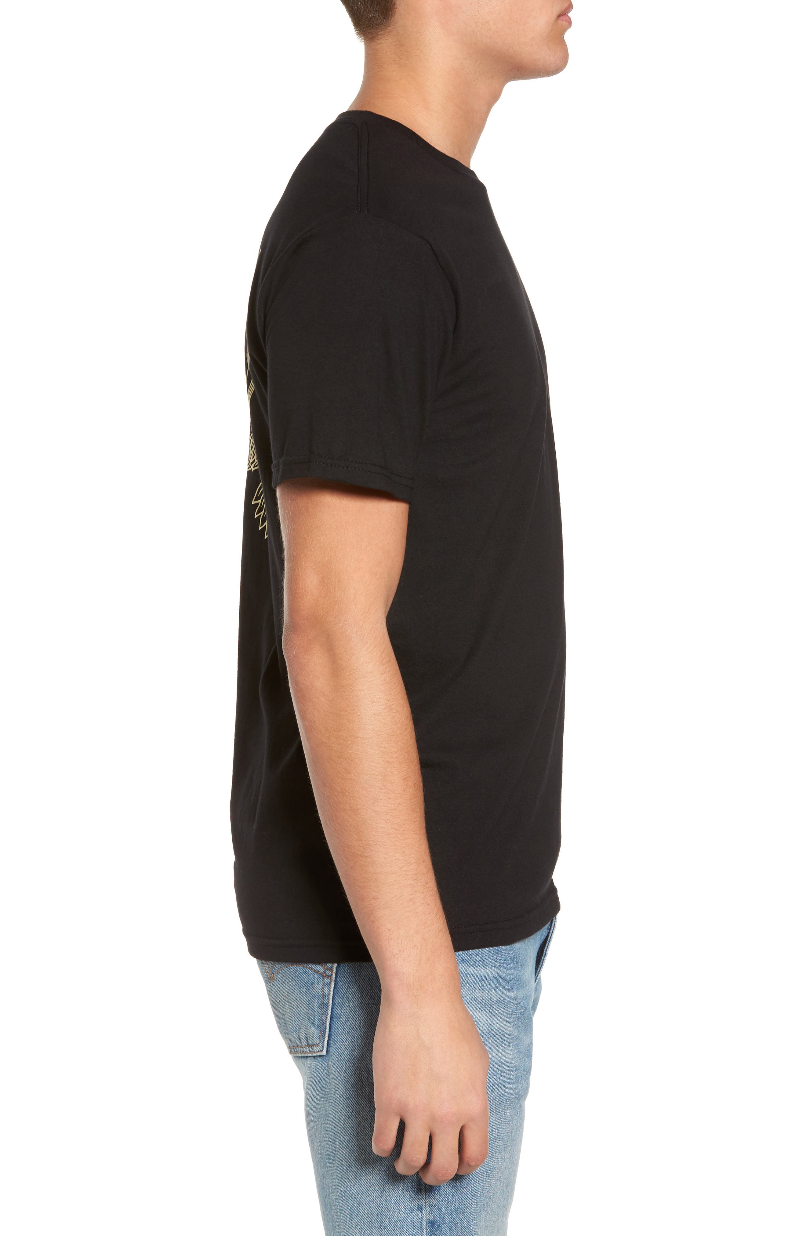 Look Out Below Premium Graphic T-Shirt,                             Alternate thumbnail 3, color,                             Black