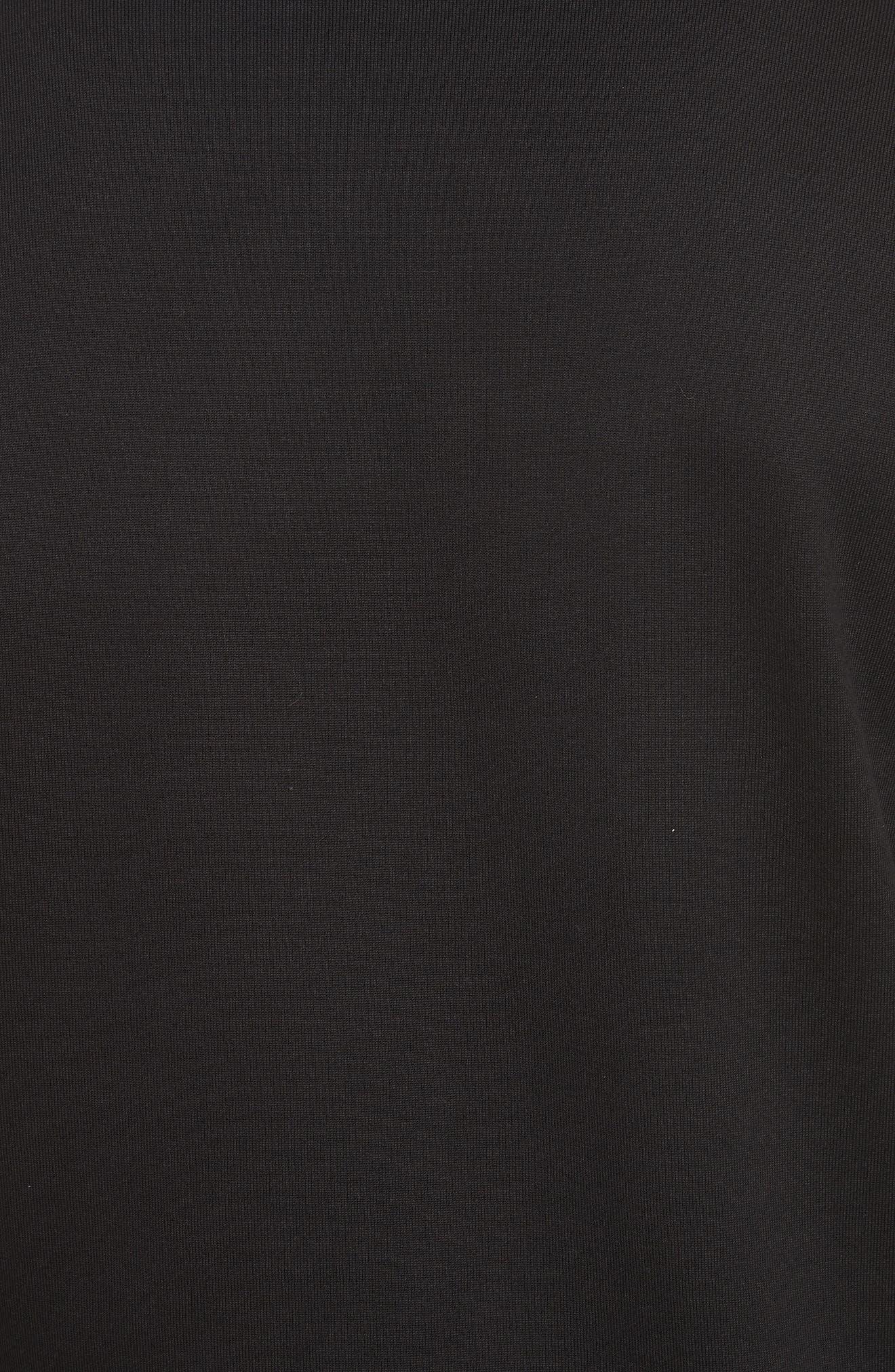 Logo Print Crewneck Sweatshirt,                             Alternate thumbnail 5, color,                             Black