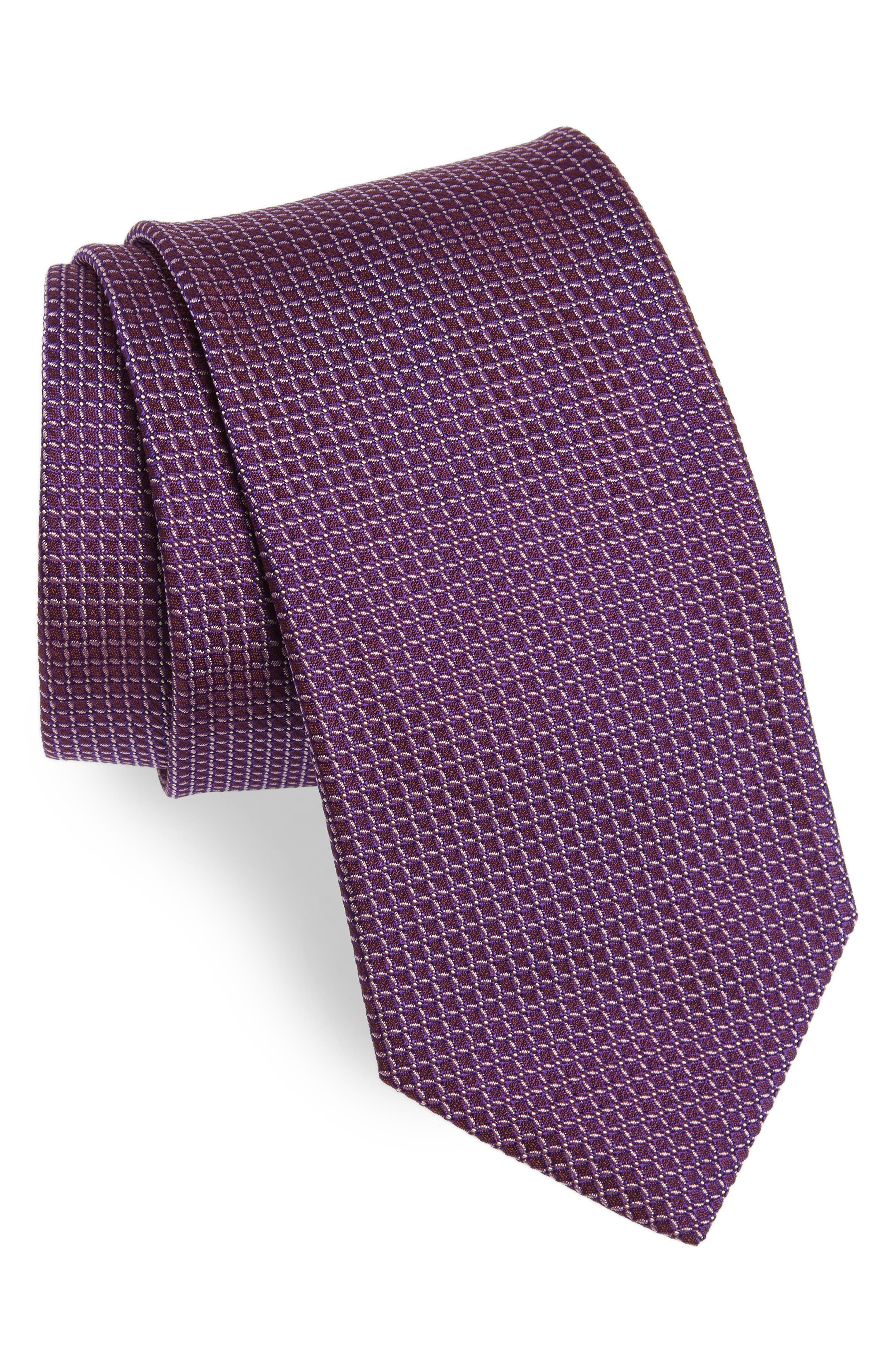 Alternate Image 1 Selected - BOSS Geometric Silk Tie