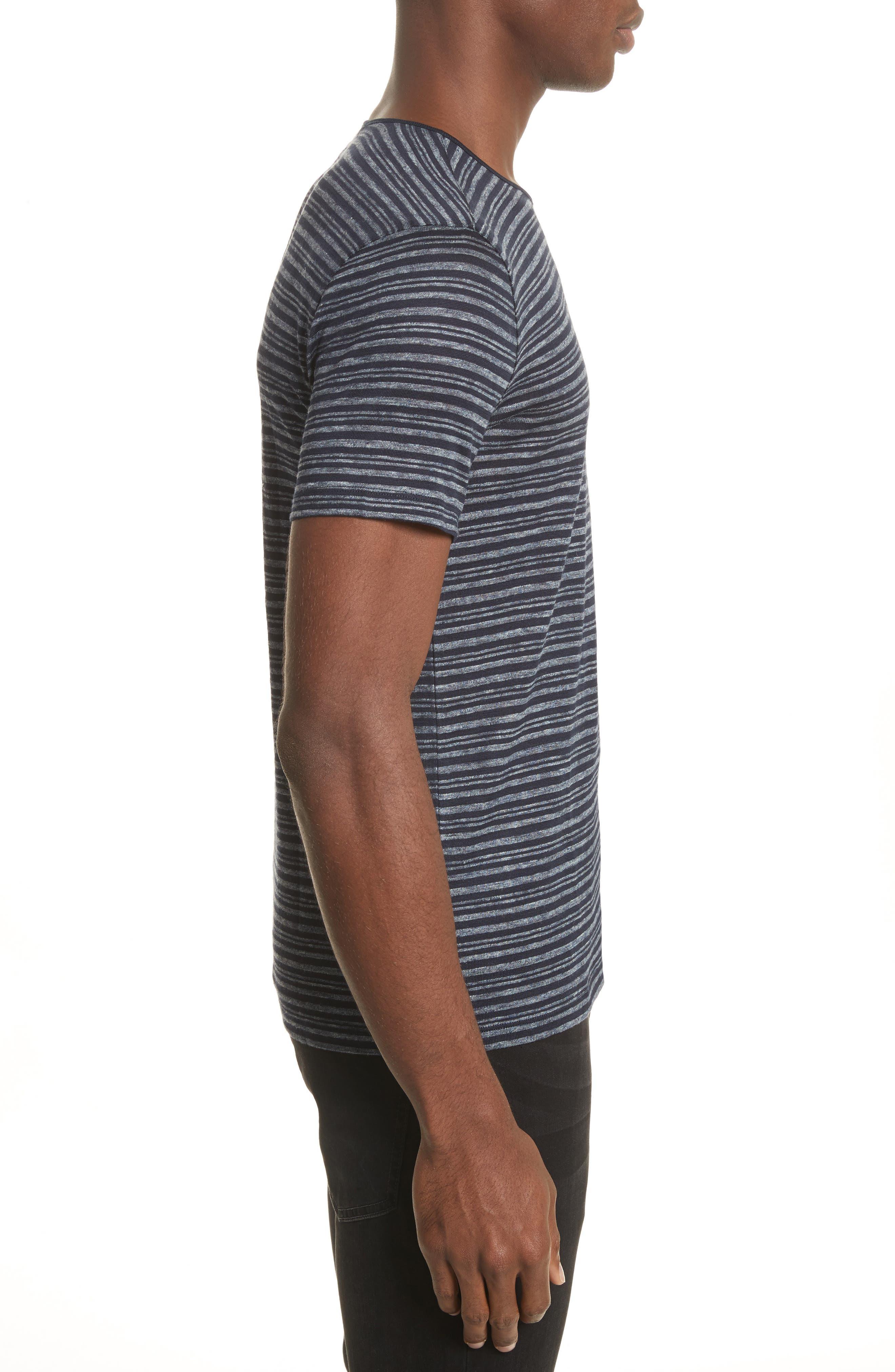 Stripe T-Shirt,                             Alternate thumbnail 3, color,                             Eclipse