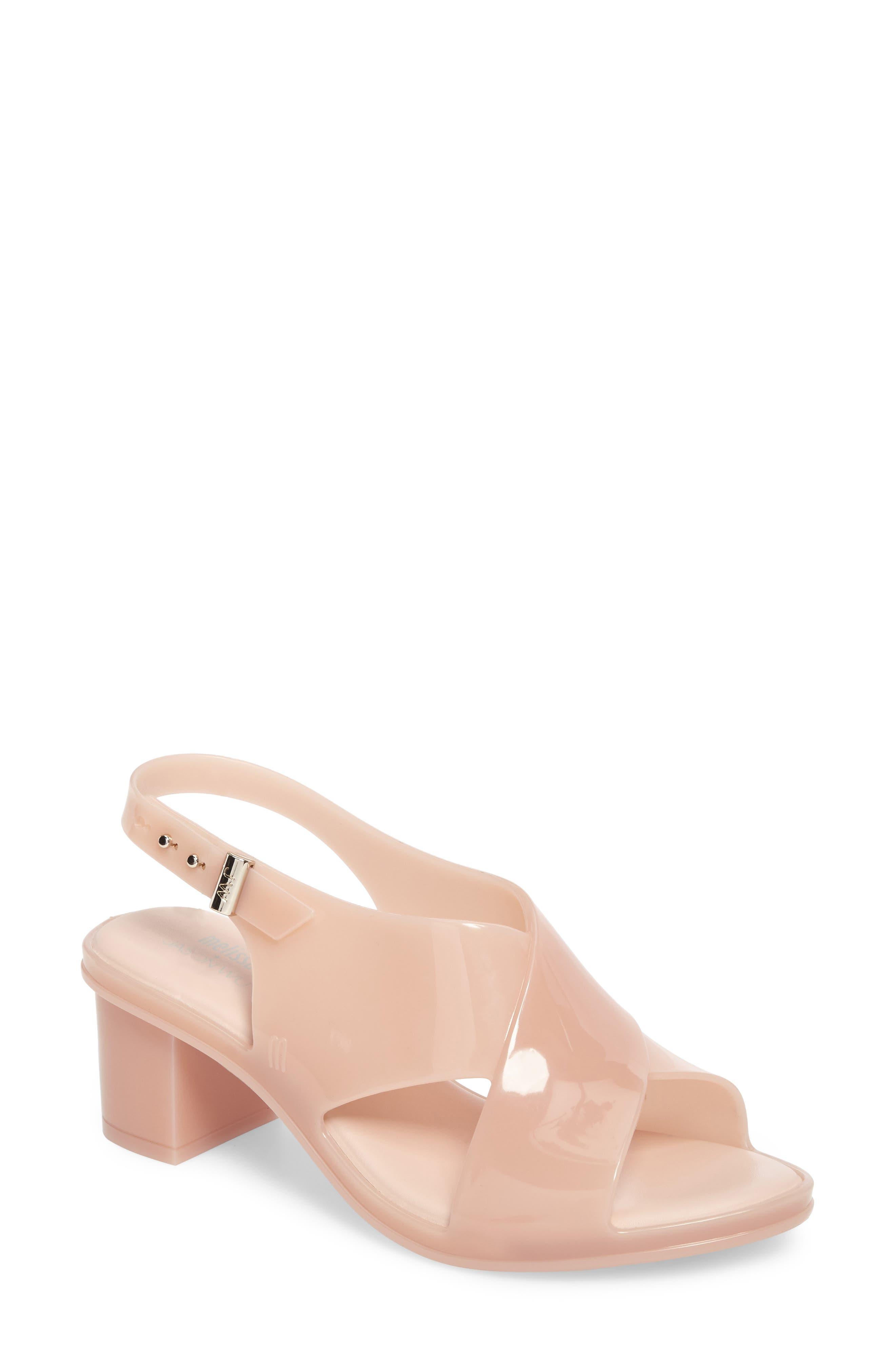 x Jason Wu Jamie Cross Strap Slingback Sandal,                         Main,                         color, Light Pink Matte