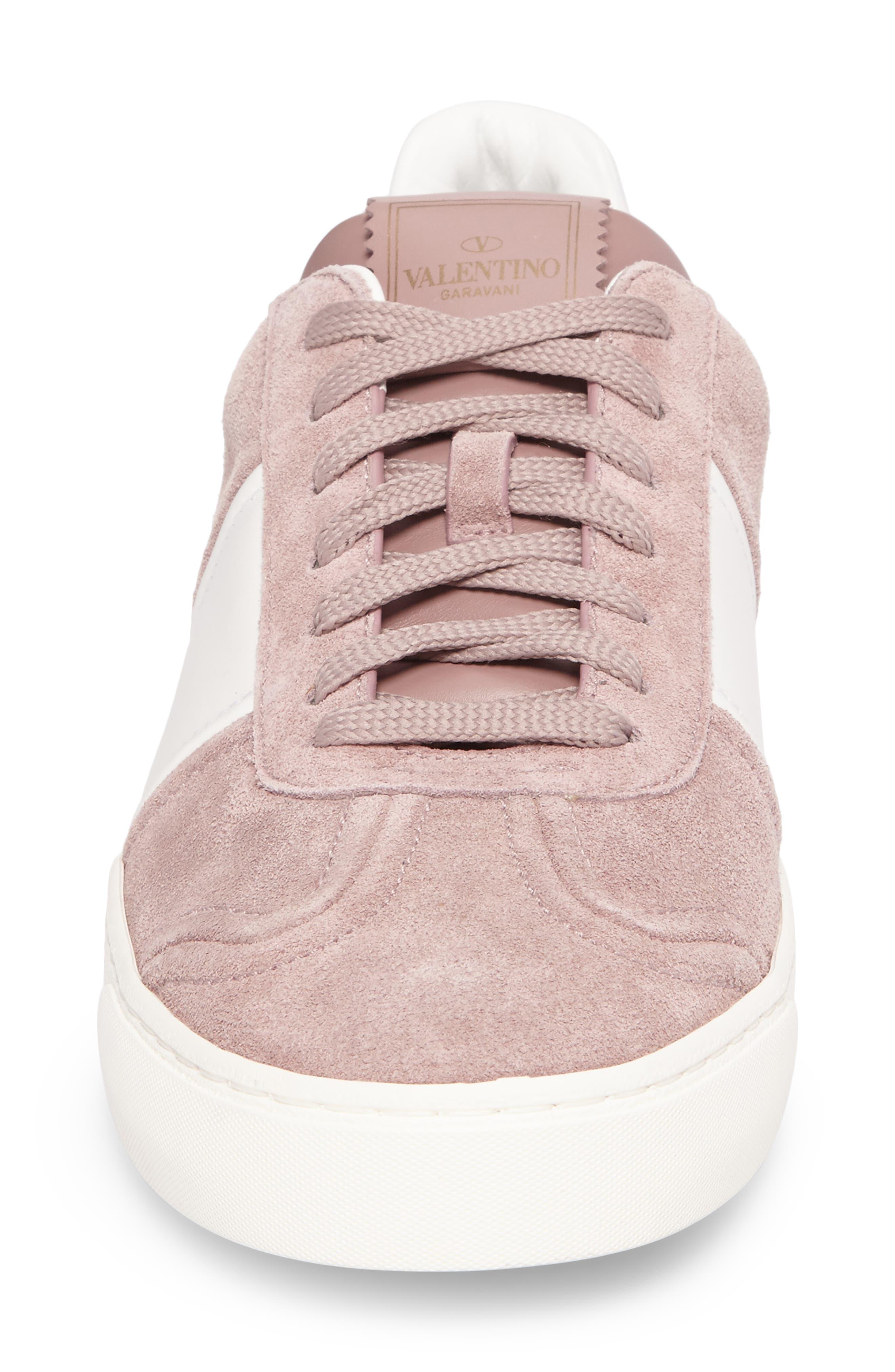 Fly Crew Sneaker,                             Alternate thumbnail 4, color,                             Lipstick/ Bianco