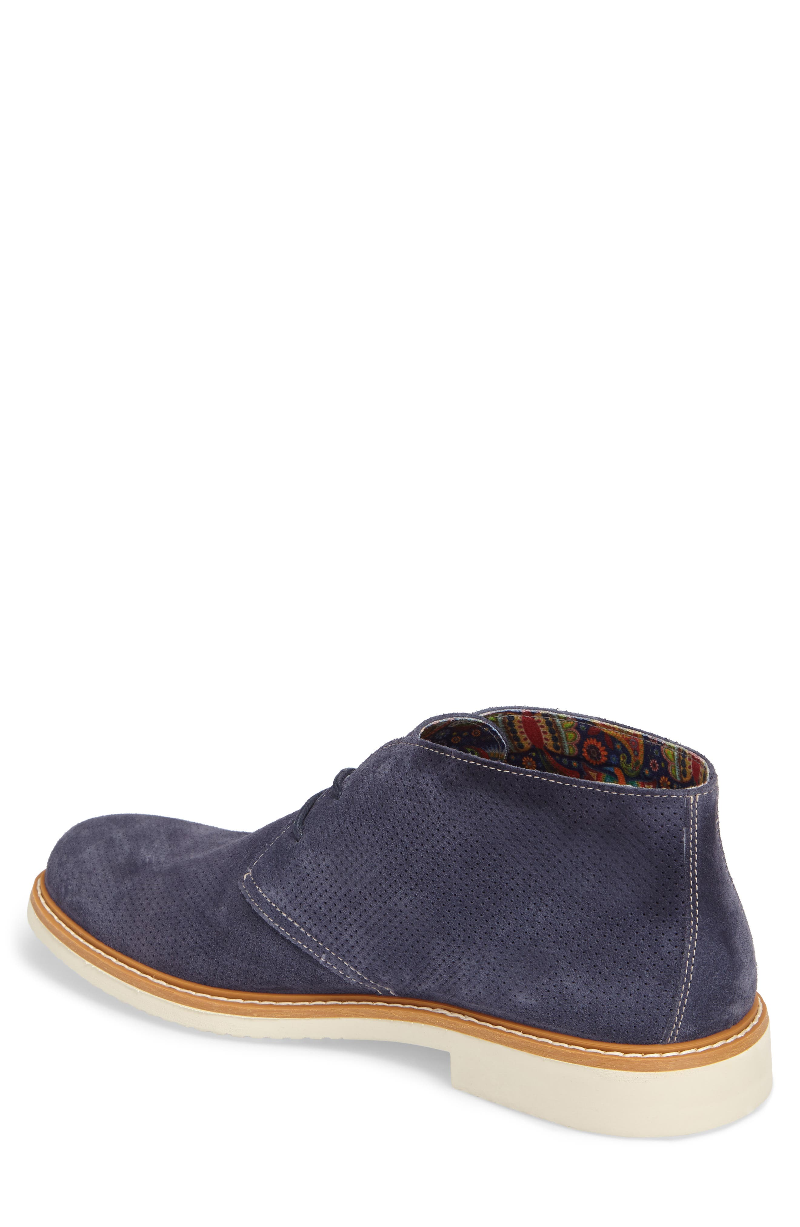 Bayside Perforated Chukka Boot,                             Alternate thumbnail 2, color,                             Blue Suede