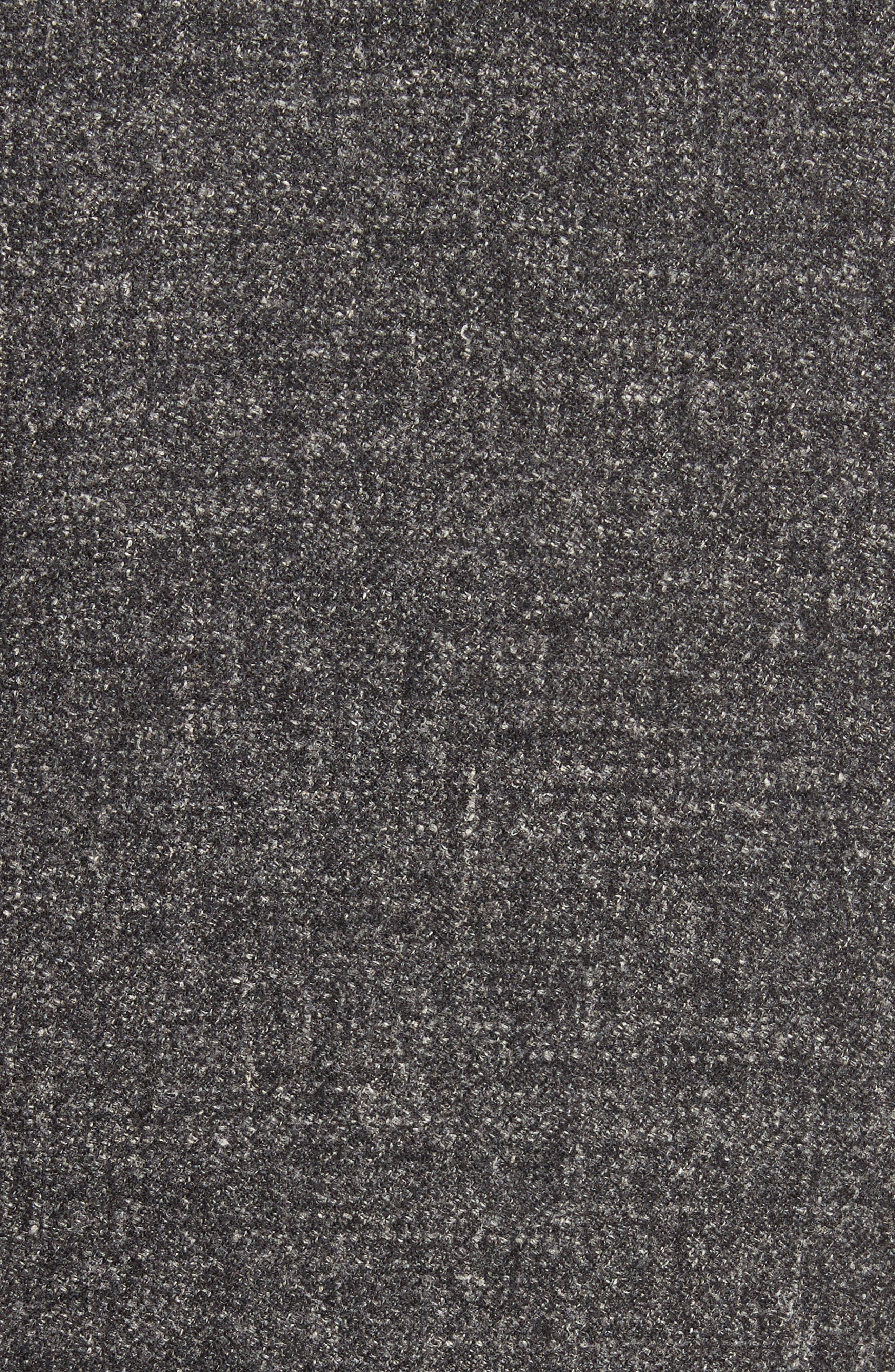 Walsh Wool & Linen Topcoat,                             Alternate thumbnail 5, color,                             Black/ Grey