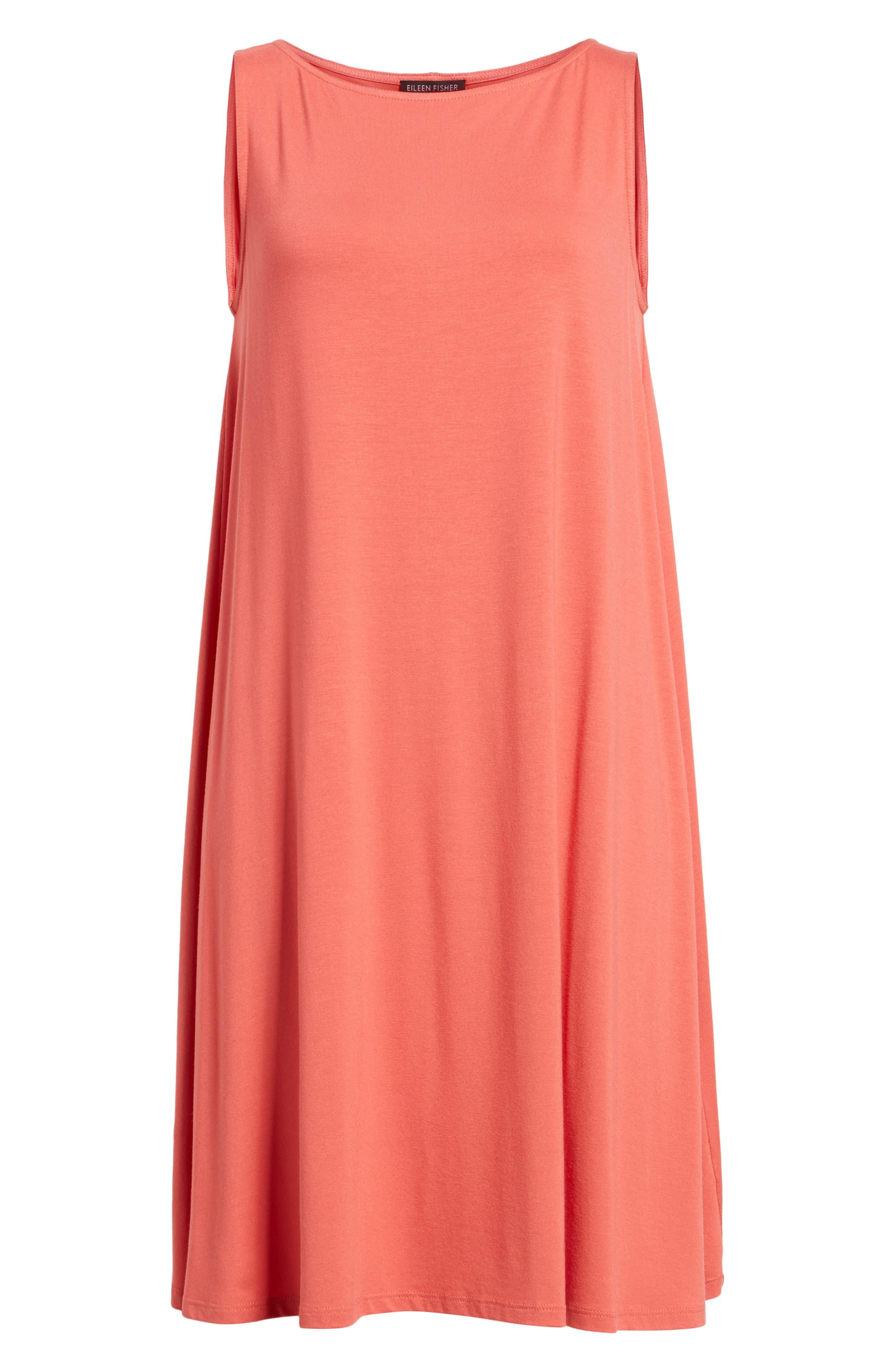 Jersey Shift Dress,                             Alternate thumbnail 6, color,                             Mimosa