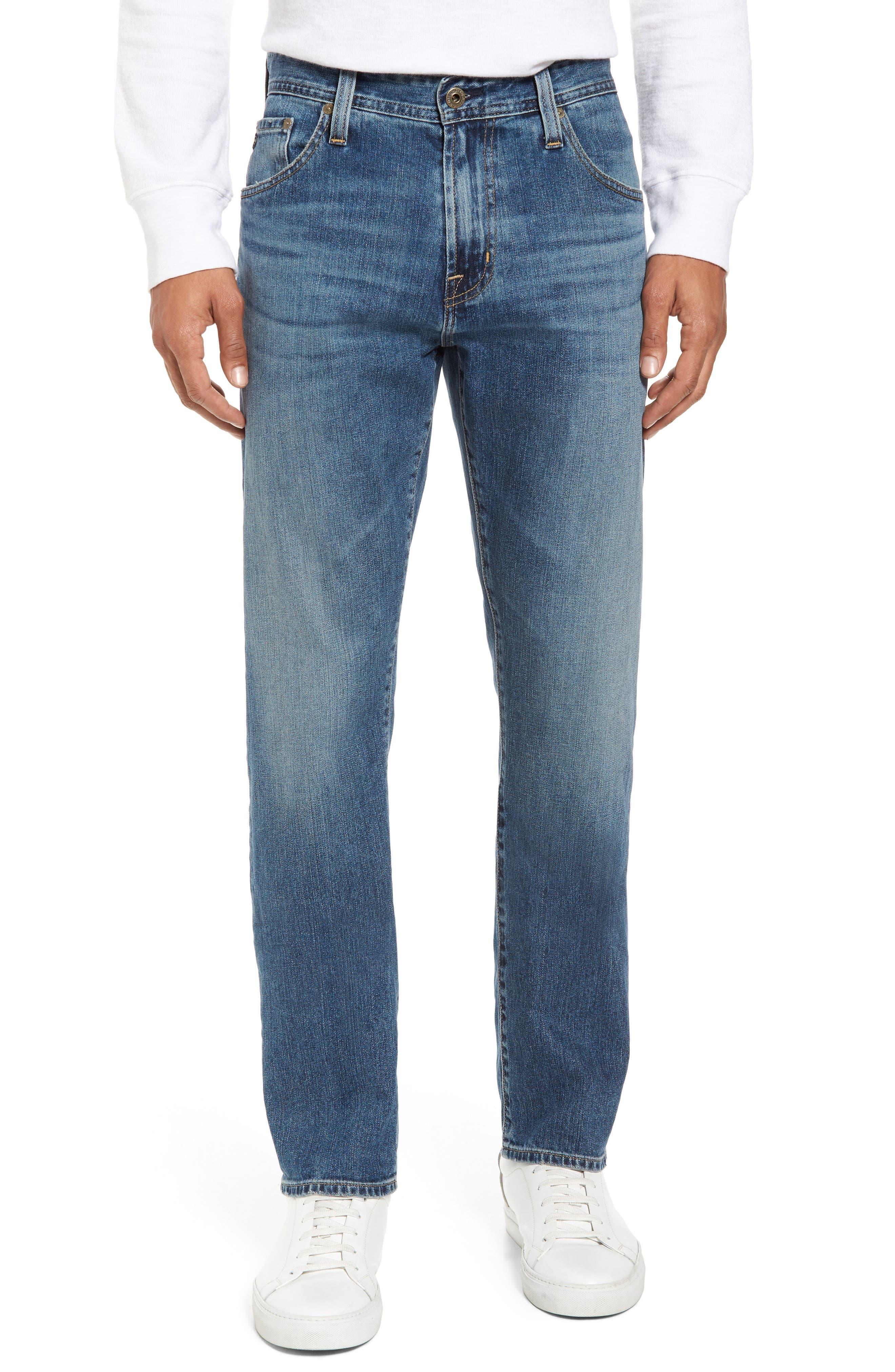 Alternate Image 1 Selected - AG Ives Straight Fit Jeans (Grasslands)