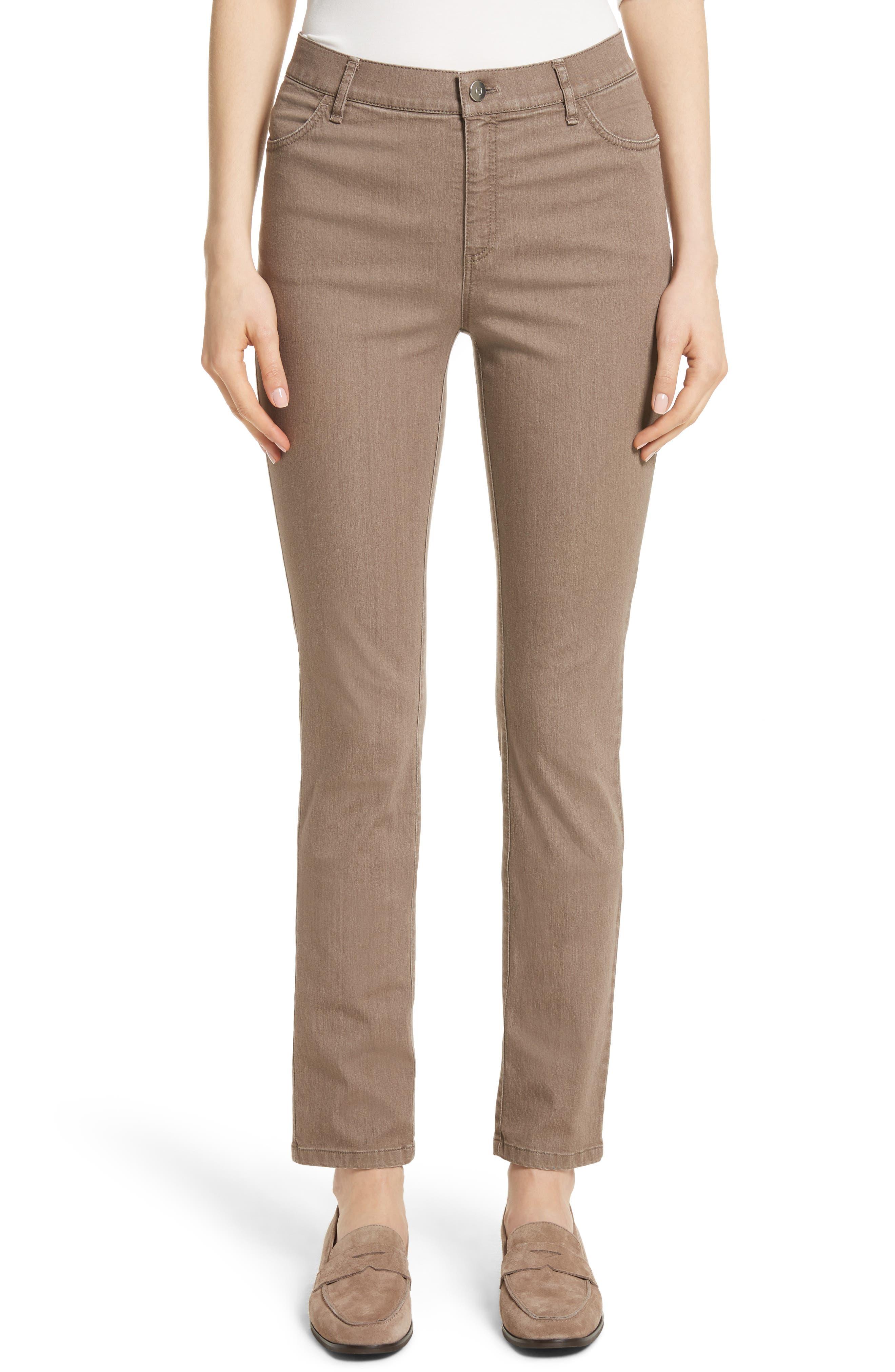 'Primo Denim' Curvy Fit Slim Leg Jeans,                             Main thumbnail 1, color,                             Tumbleweed