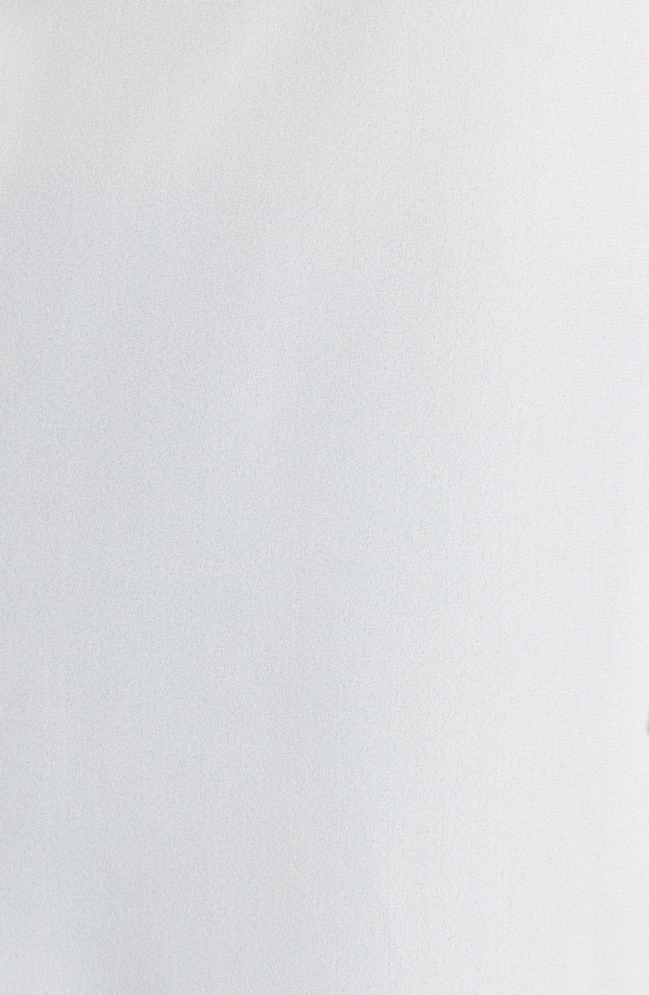 Asymmetrical Ruffle Blouse,                             Alternate thumbnail 5, color,                             White