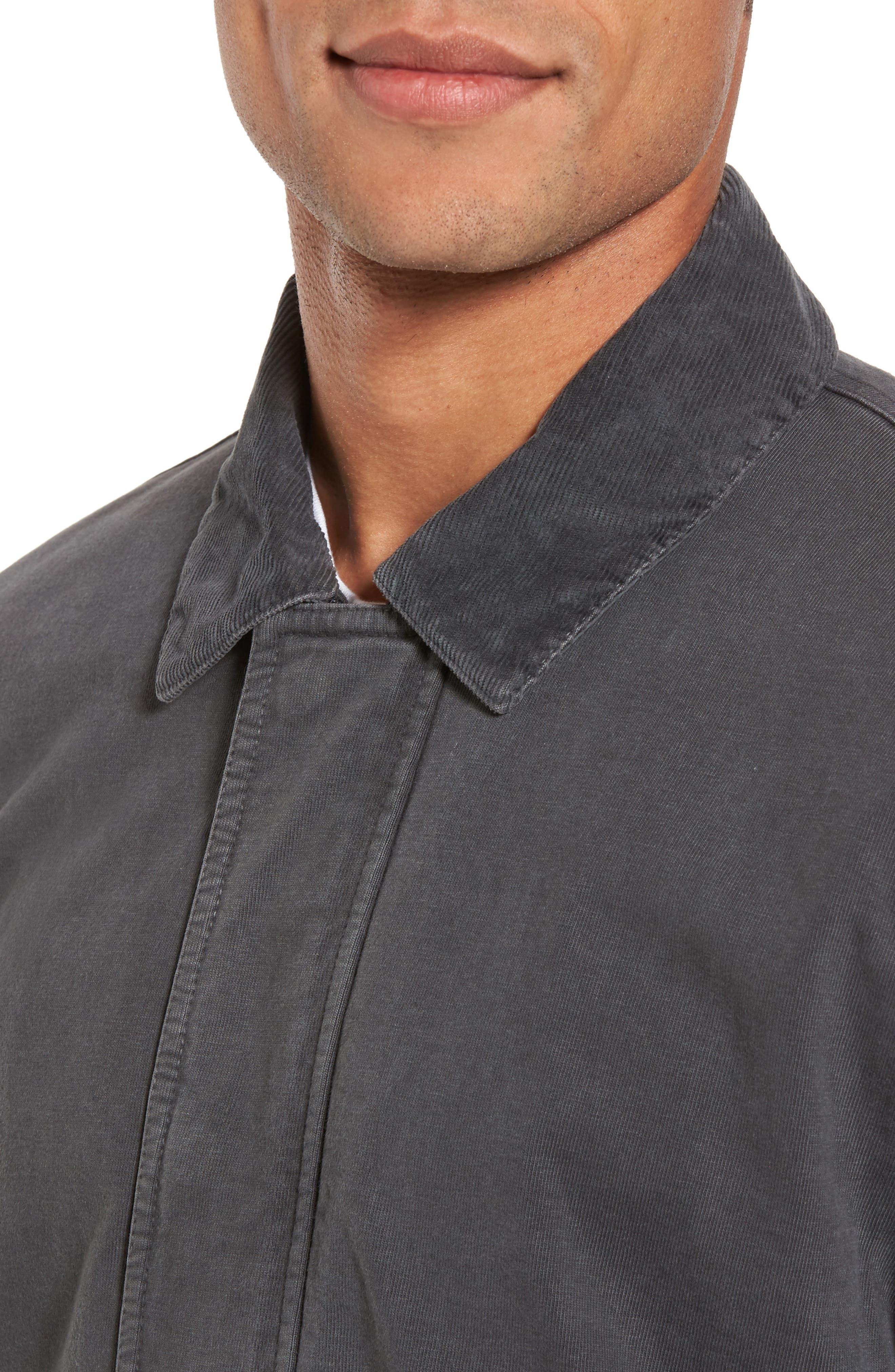 Garment Dyed Field Jacket,                             Alternate thumbnail 4, color,                             Carbon Pigment