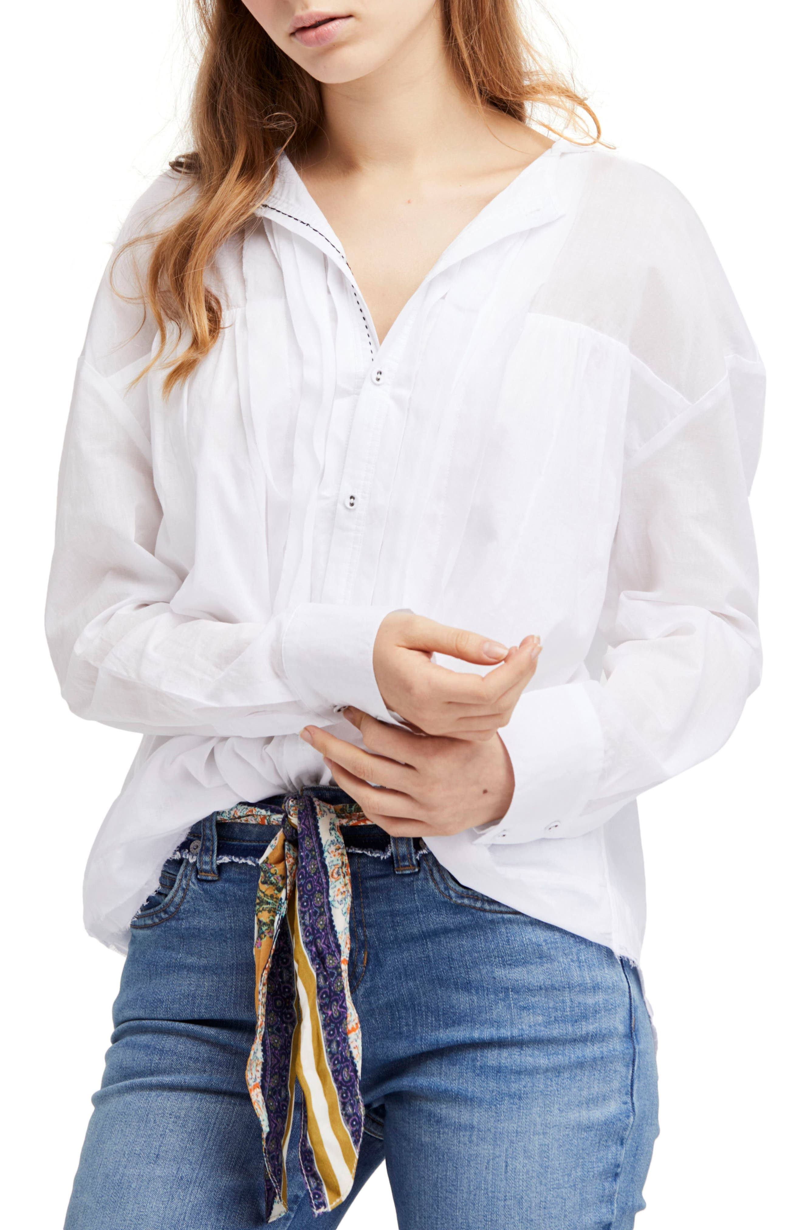 Breezy Hooded Shirt,                         Main,                         color, White