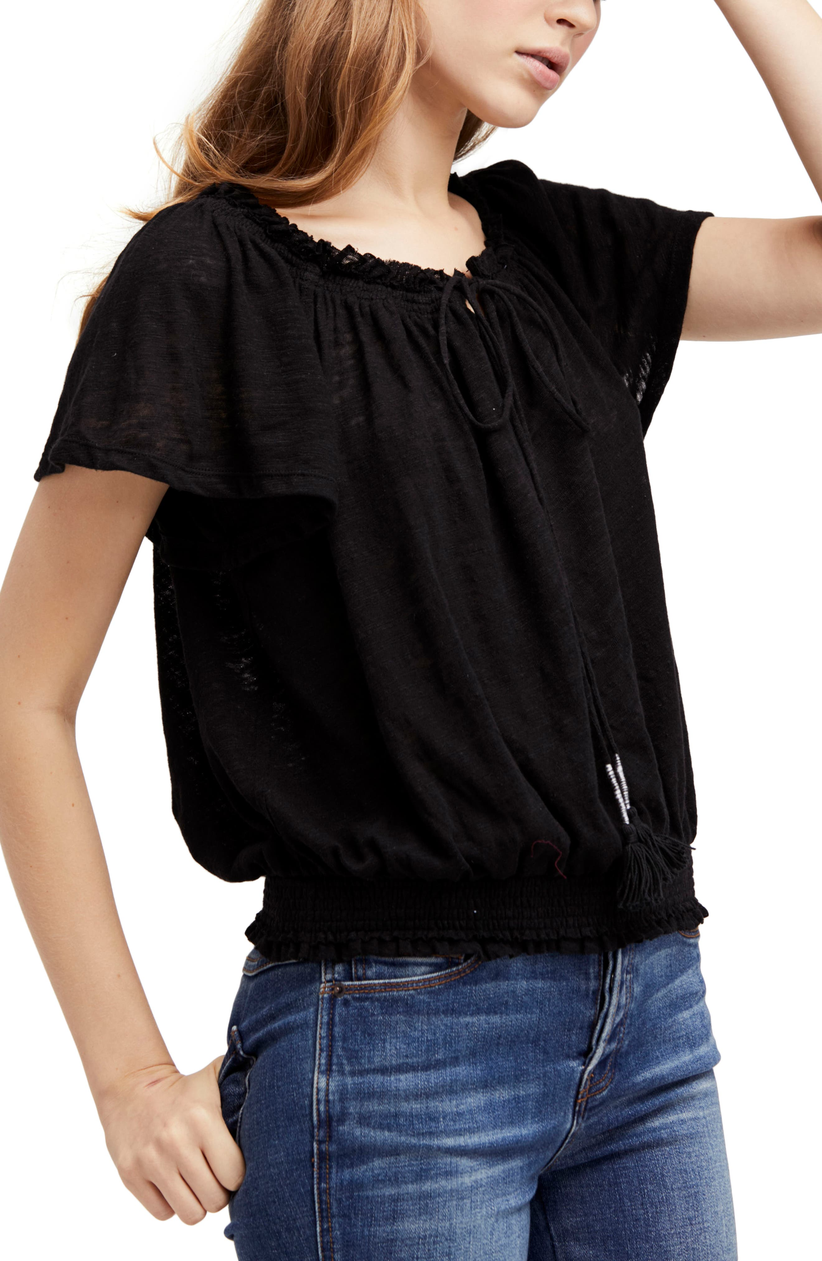 Hummingbird Tee,                         Main,                         color, Black