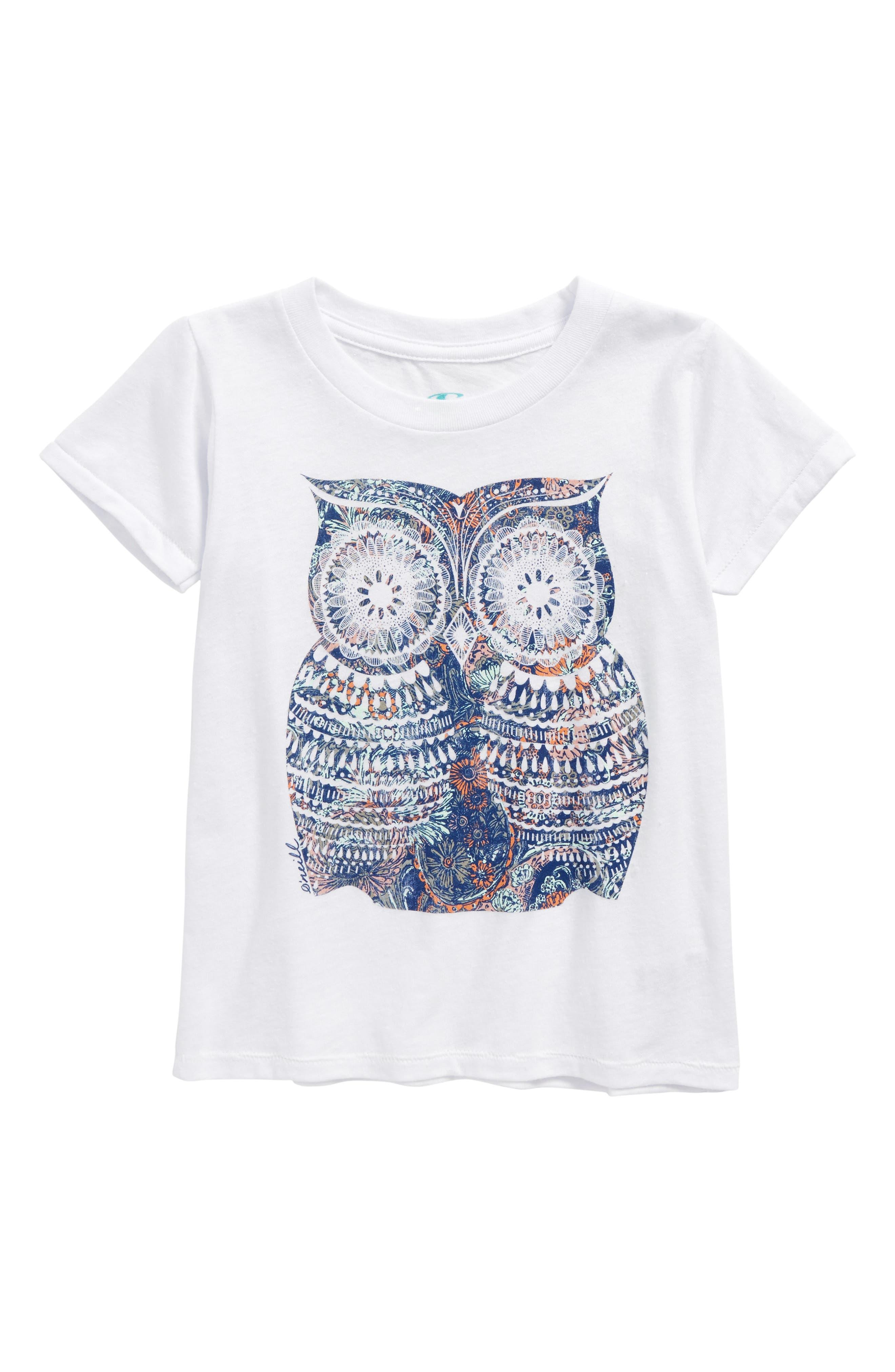 O'Neill Night Bird Graphic Tee (Toddler Girls & Little Girls)