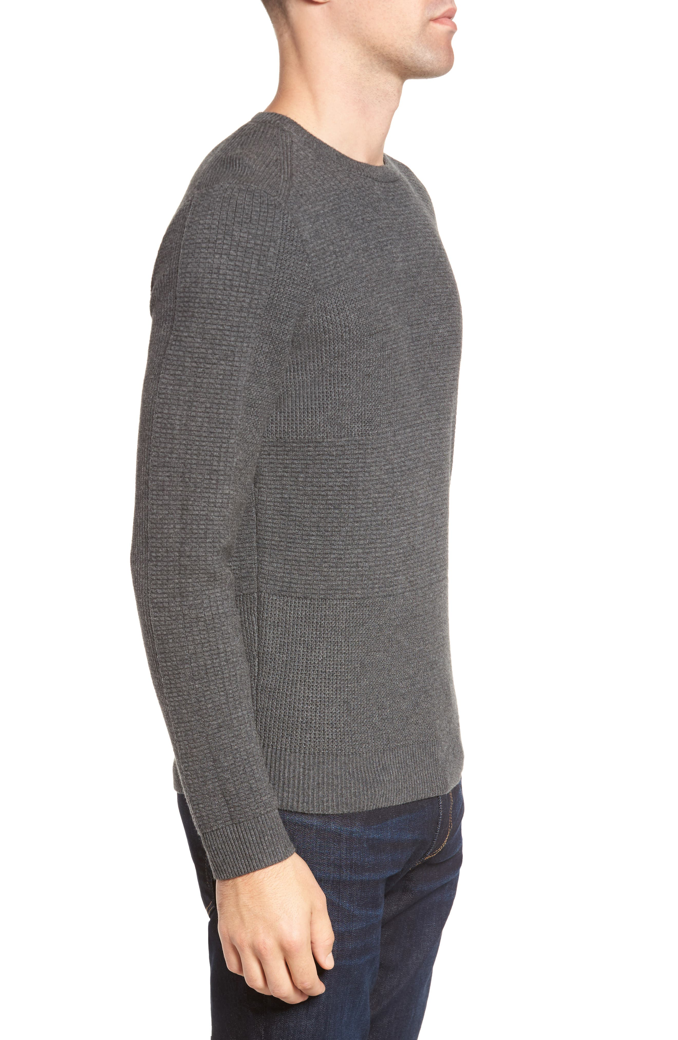 Naranjo Wool & Cotton Sweater,                             Alternate thumbnail 3, color,                             Grey