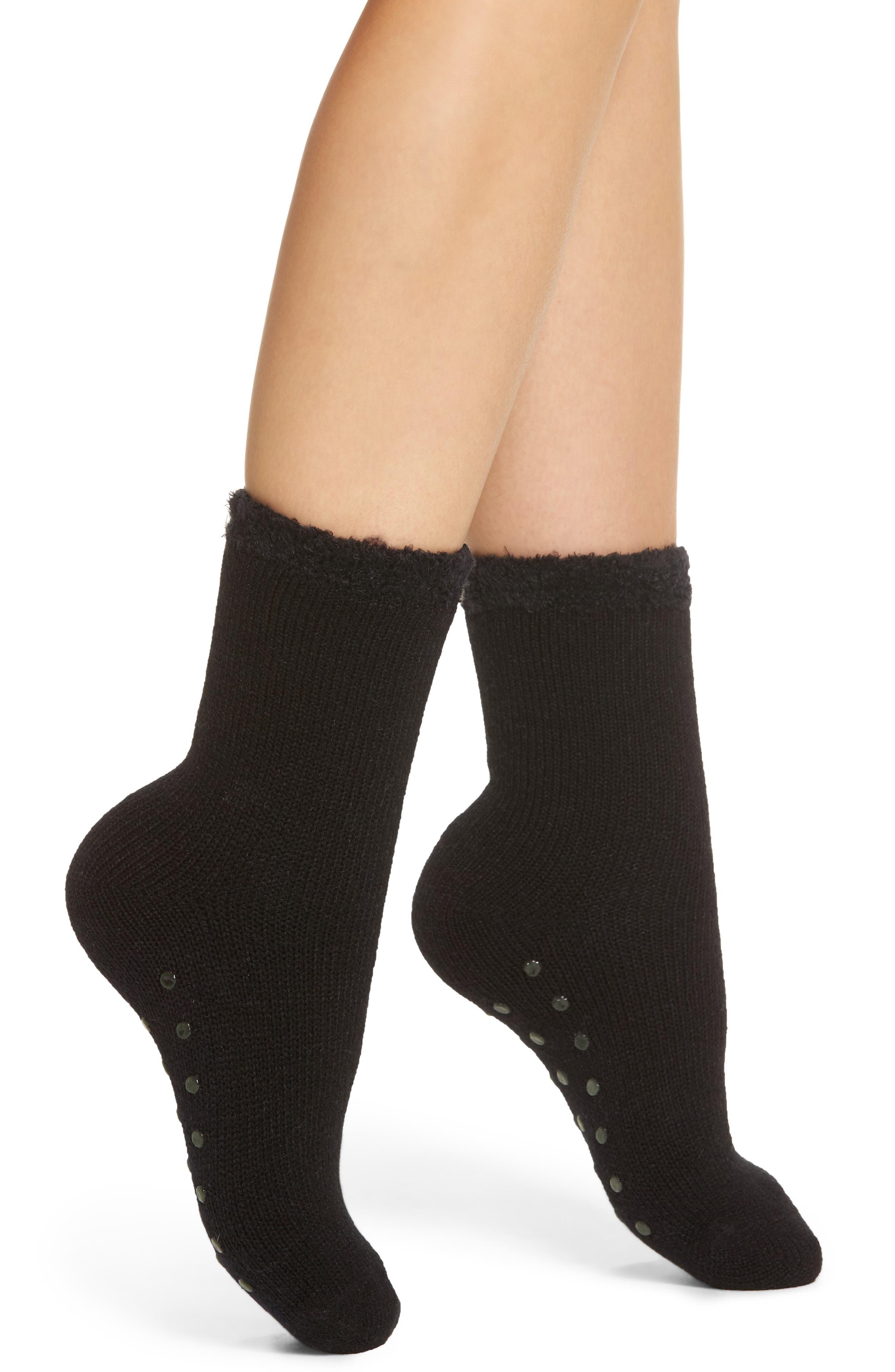 Butter Cuff Socks,                         Main,                         color, Black