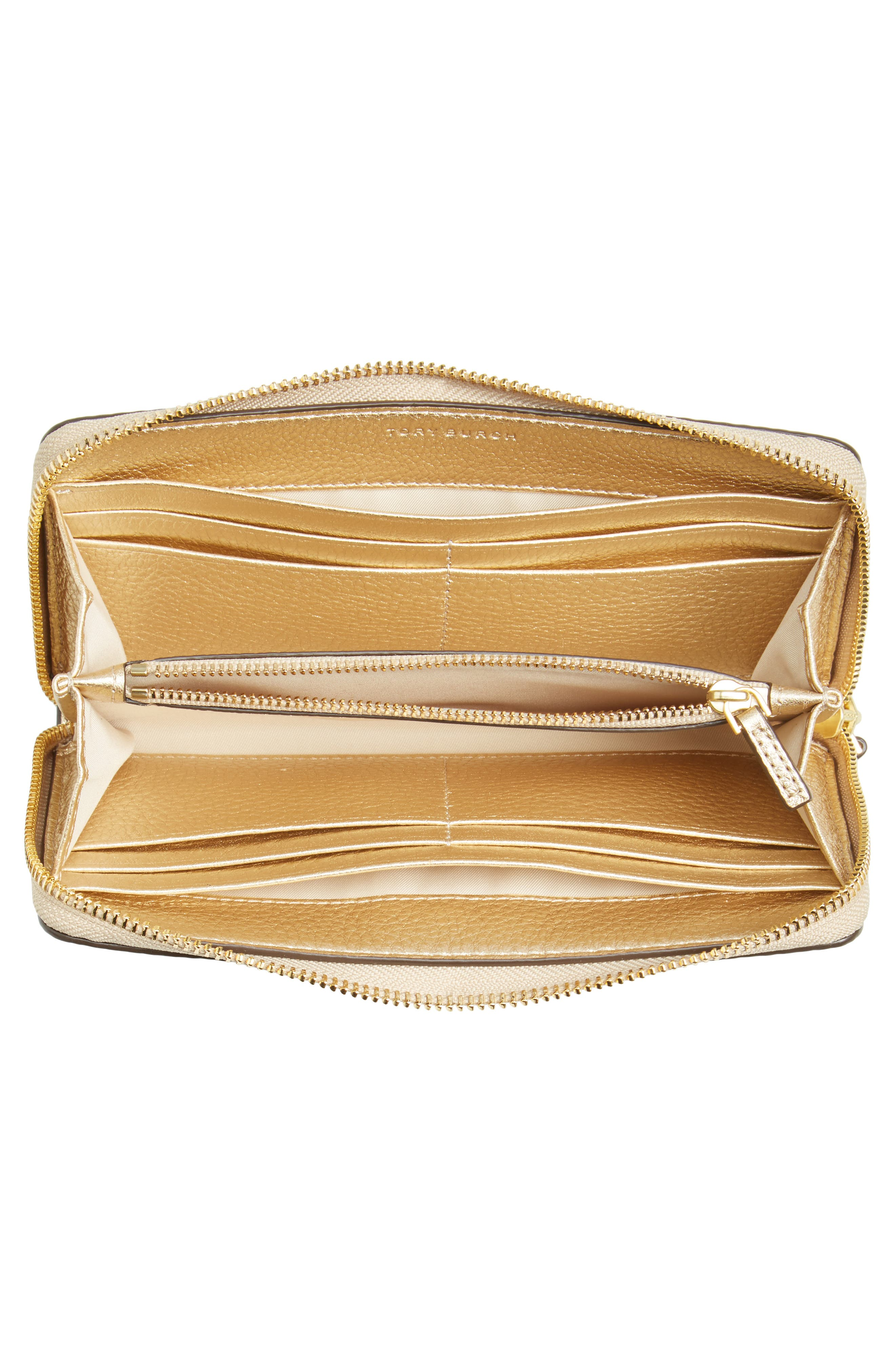 McGraw Leather Continental Wallet,                             Alternate thumbnail 3, color,                             Gold