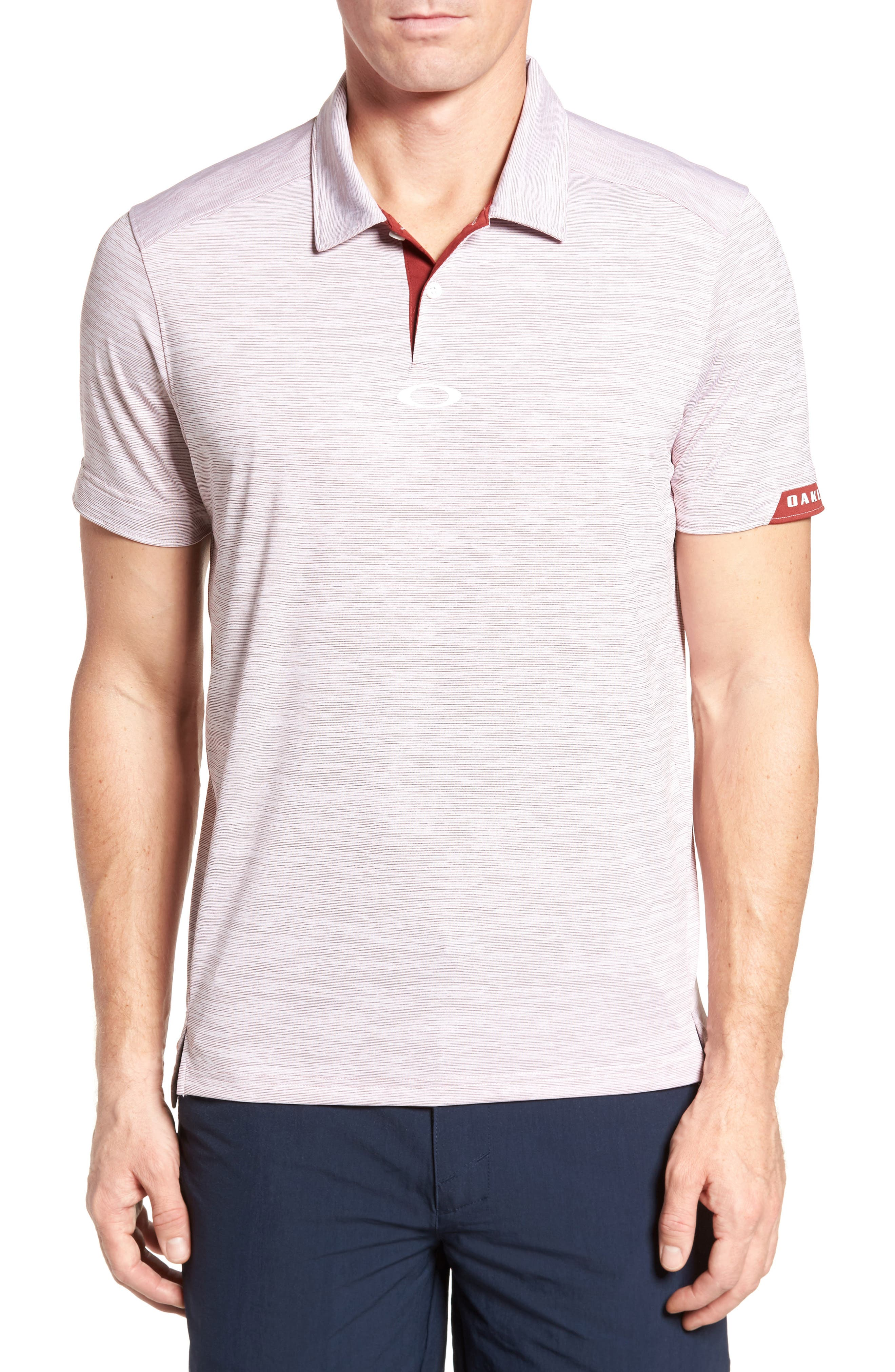 Gravity Polo Shirt,                         Main,                         color, Iron Red