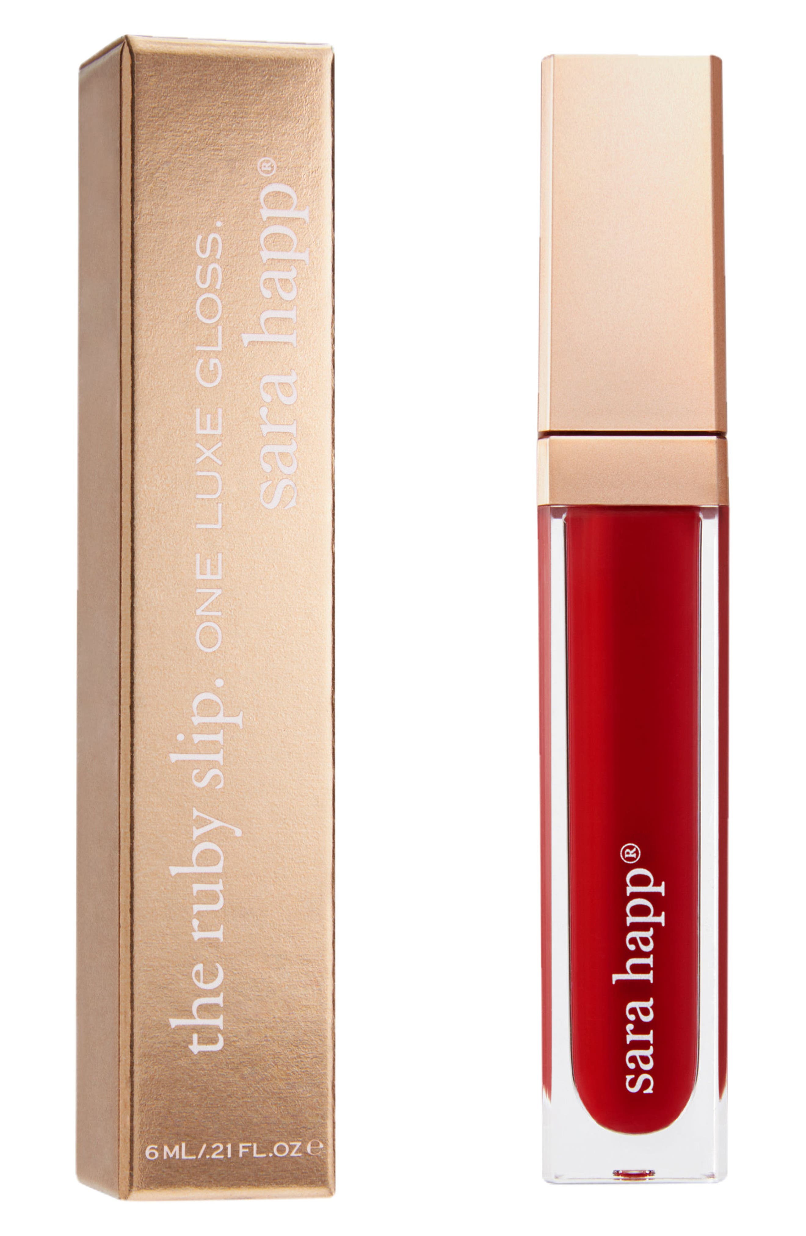 The Lip Slip<sup>®</sup> One Luxe Gloss,                             Alternate thumbnail 2, color,                             Ruby