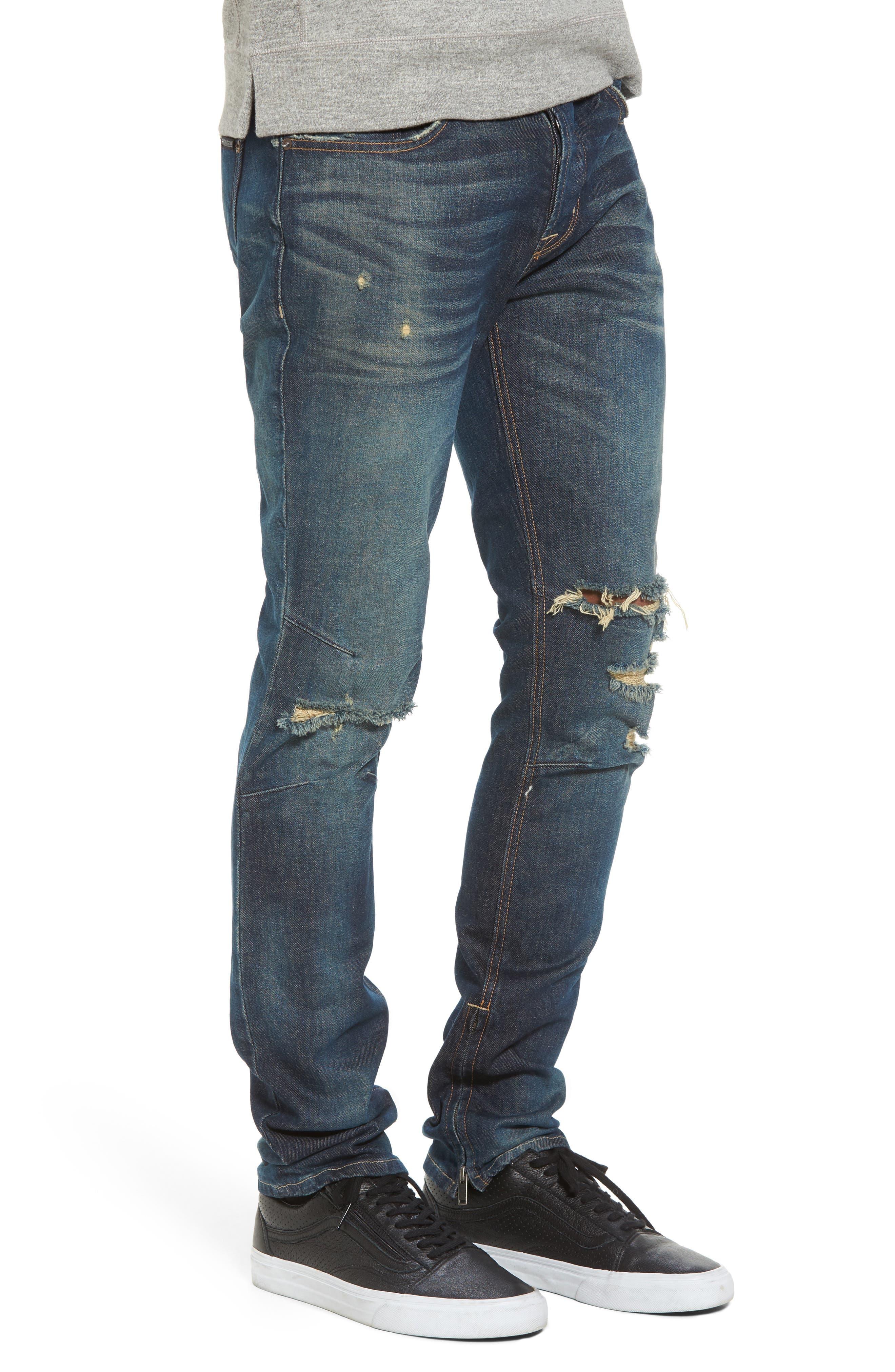 Vaughn Skinny Fit Jeans,                             Alternate thumbnail 3, color,                             Slum