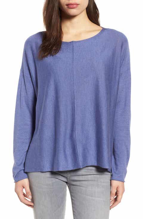 Eileen Fisher Tencel® Blend High/Low Sweater (Nordstrom Exclusive)